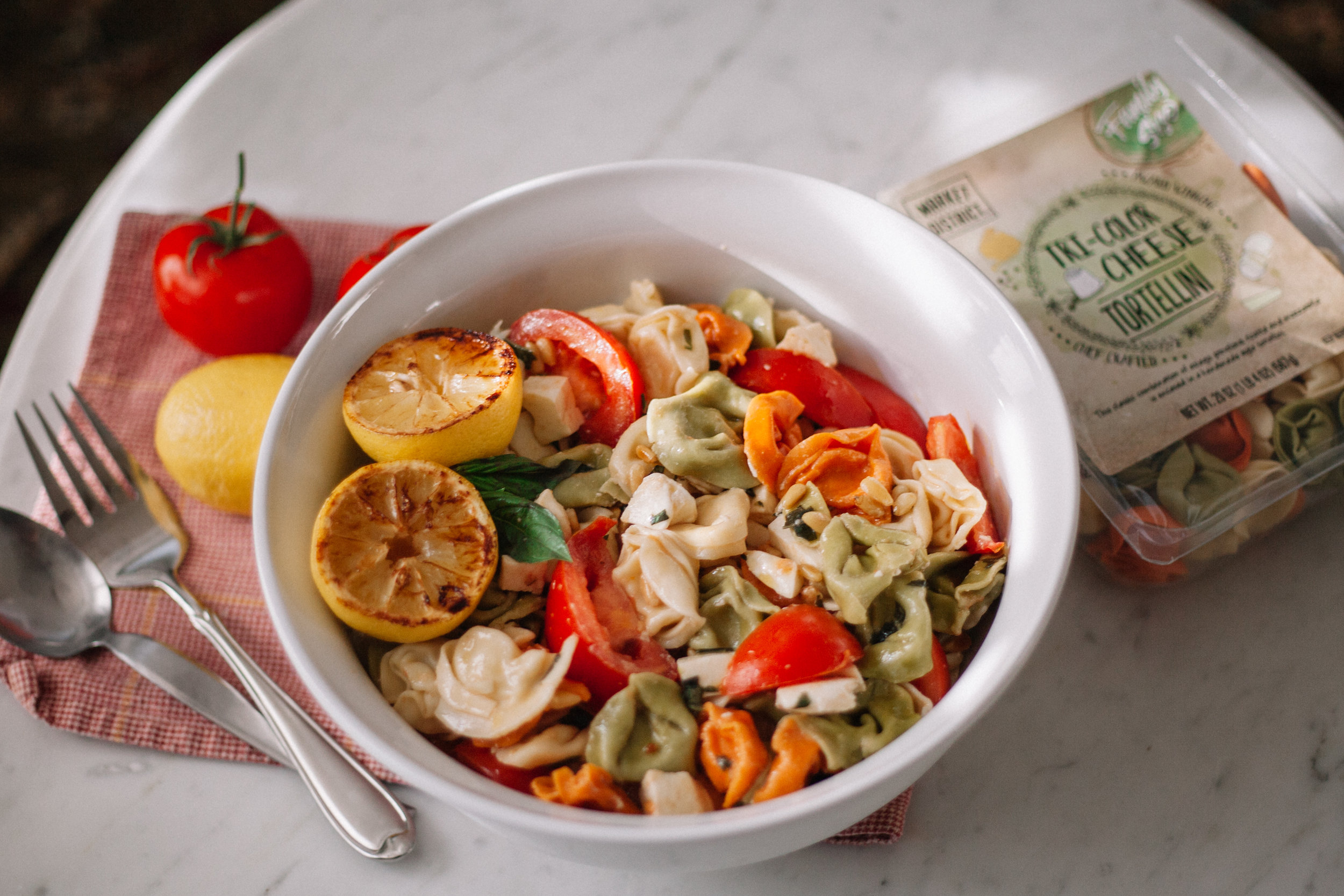 Lemon Caprese Pasta Salad | Marina Gunn