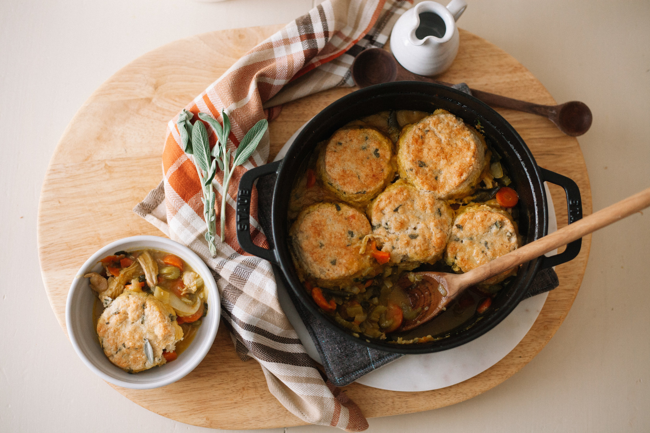 Butternut Chicken Pot Pie with Sage Biscuits | Marina Gunn