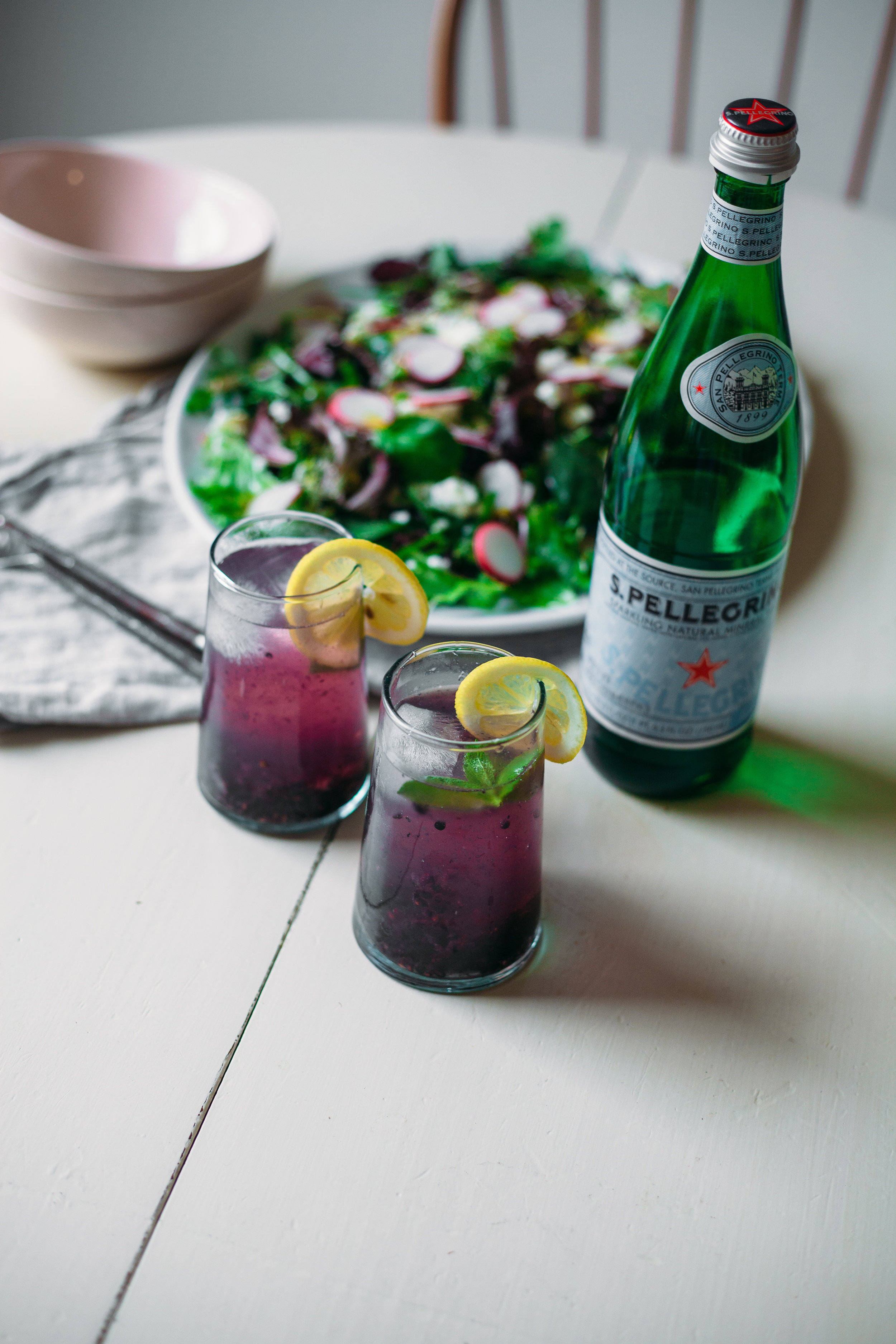 muddled blackberry, mint + honey spritz | marina gunn
