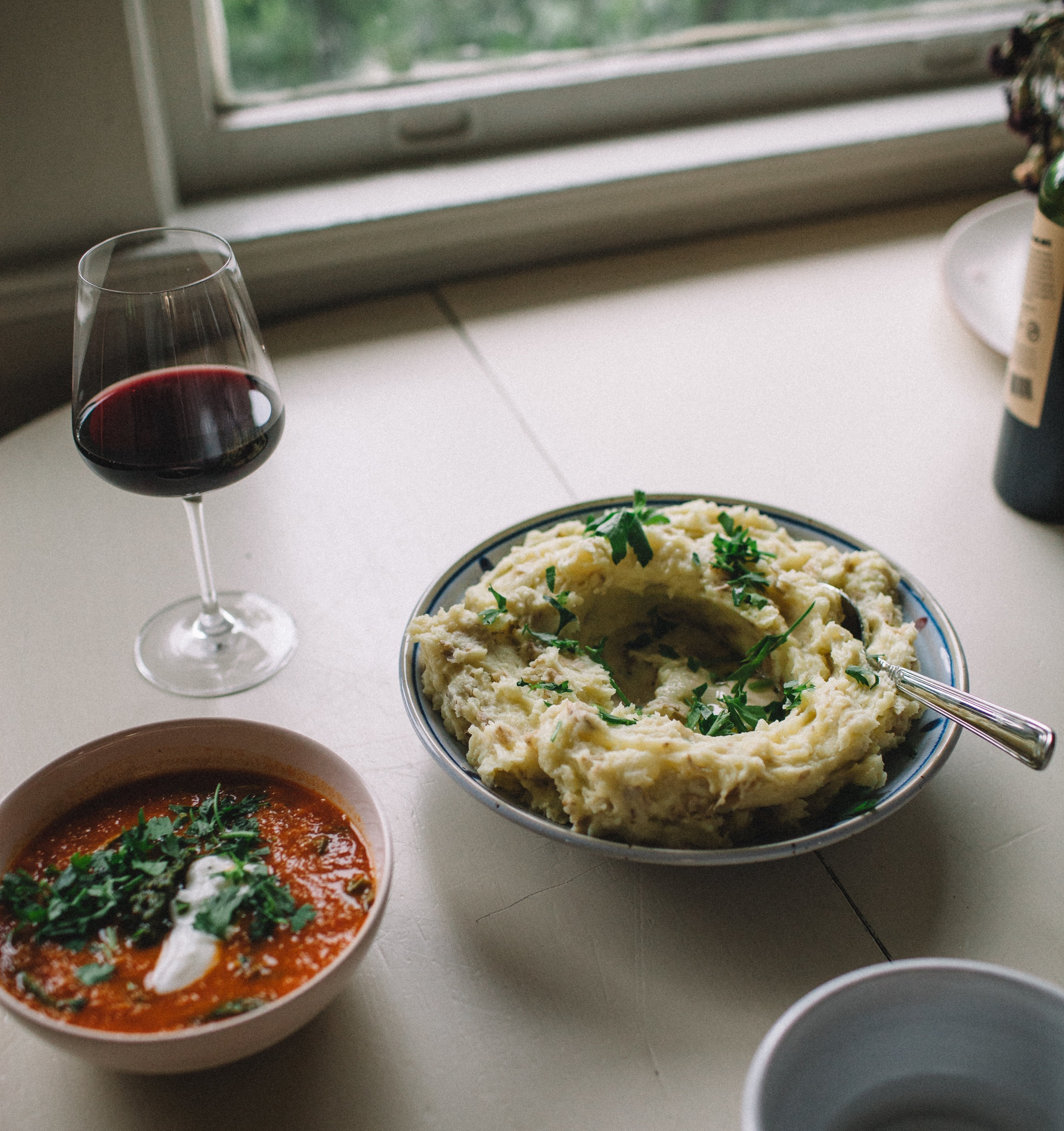 mashed potatoes with parsley + butter | marina gunn