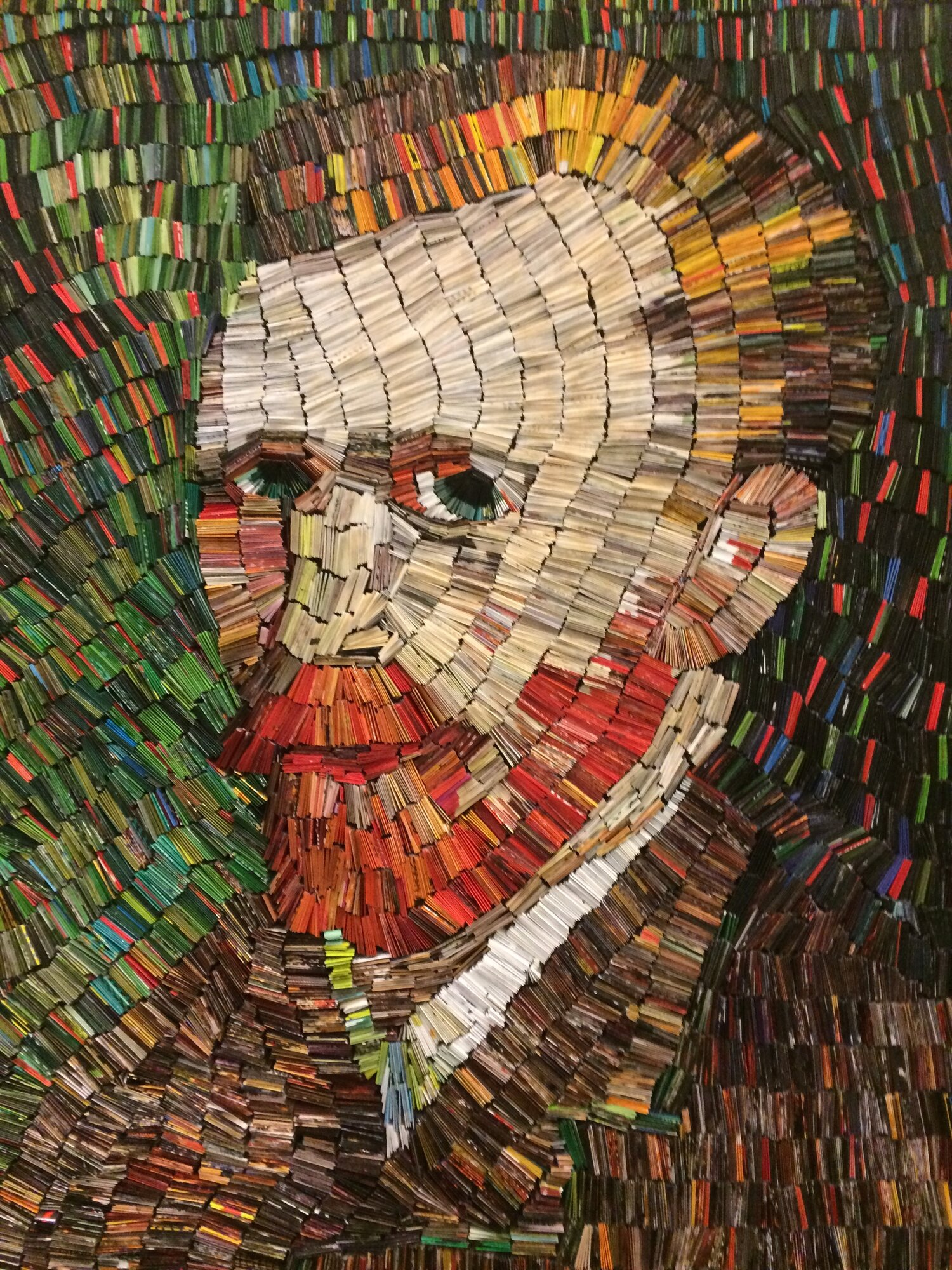 "Toni Dachis, ""Van Gogh,"" paper collage on wood, 36 x 30 inches"