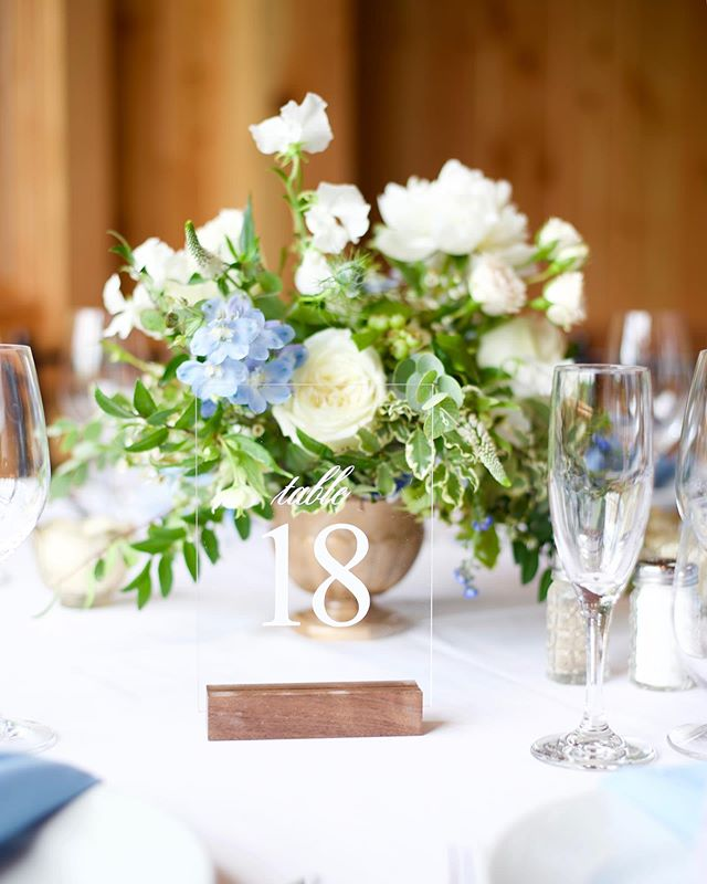 We love working with incredible partner vendors. @lovehausevents is AH-MAZ-ING they handled the coordination, design and crafted some amazing custom details for this stunner, like these awesome table numbers (that don't block my flowers-BONUS)!! It was a perfect day.