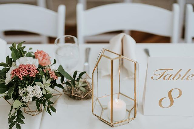 Alllll the geo details. We used geometrics mounded with flowers, lanterns and fun succulent geo holders to keep the mod-garden vibe going at @powerplantproductions for @gee_kelsey and Seth! 📷 @the.real.m2photo ❤️❤️