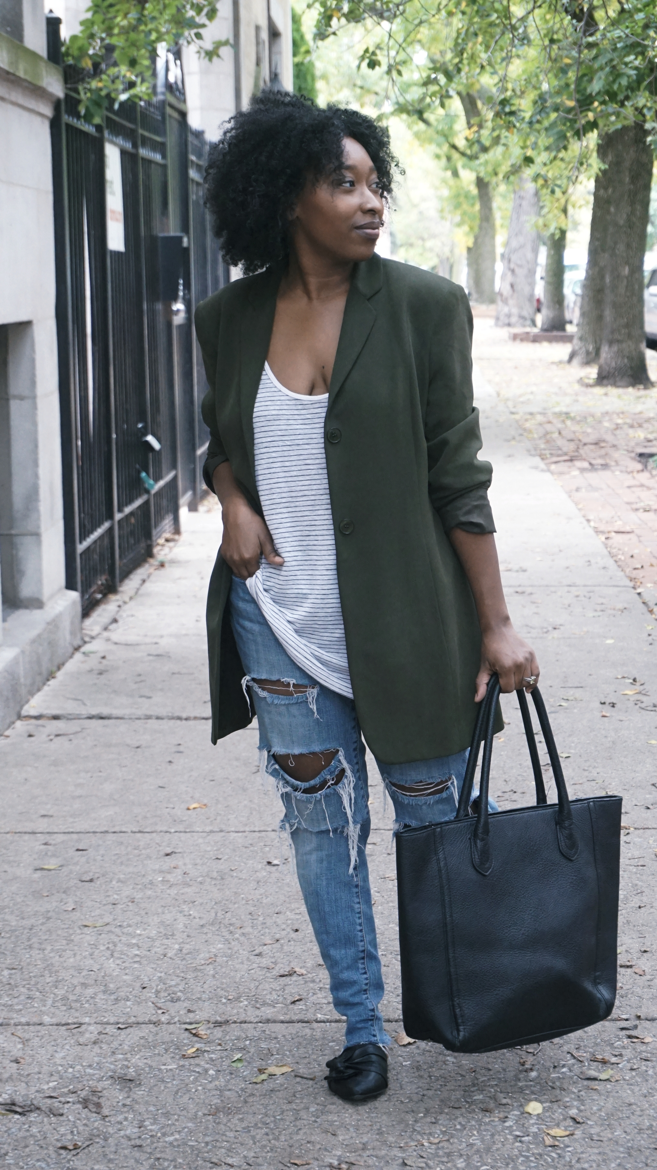 Green Blazer outfit