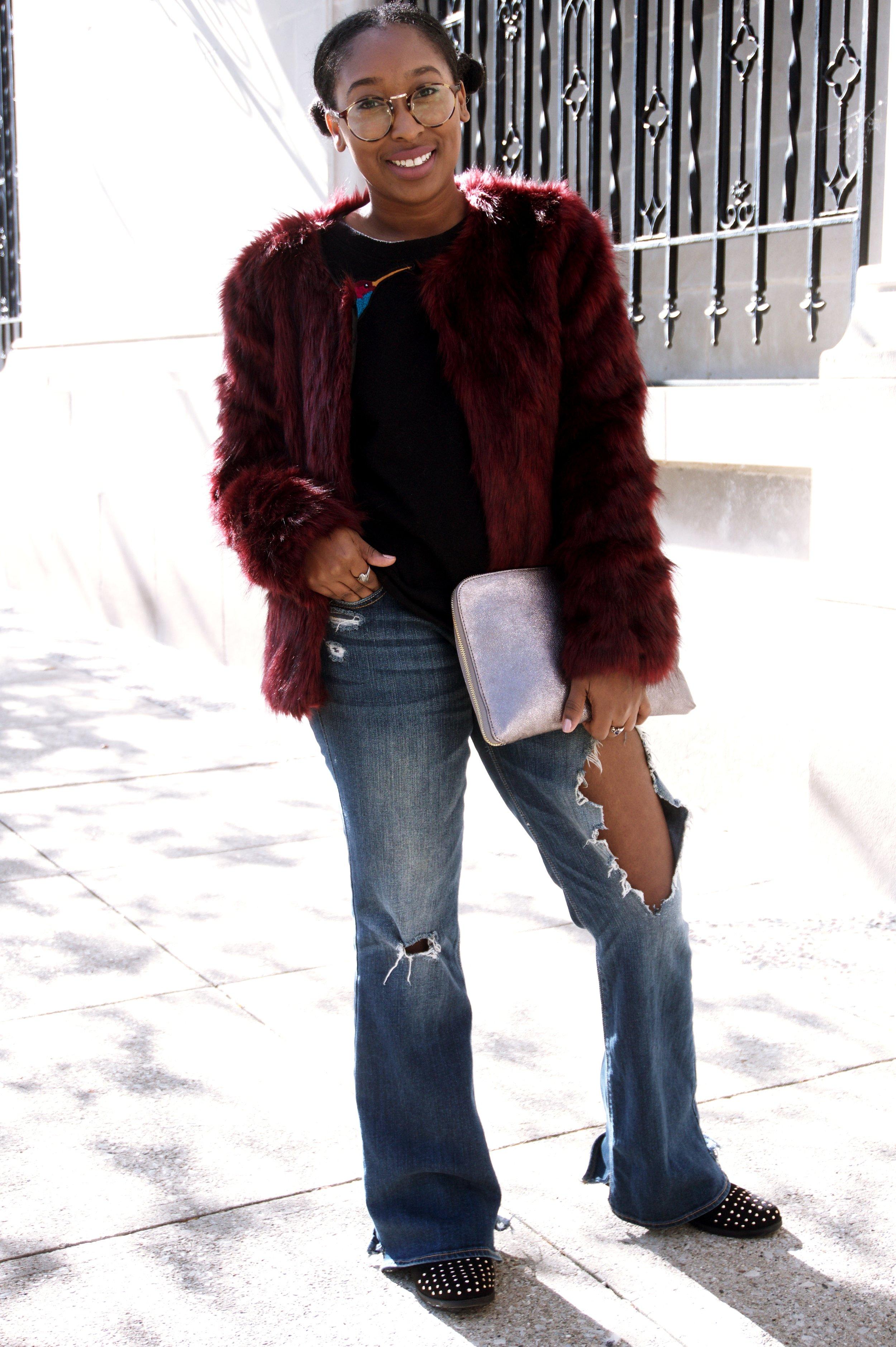 TjMaxx Fur Jacket