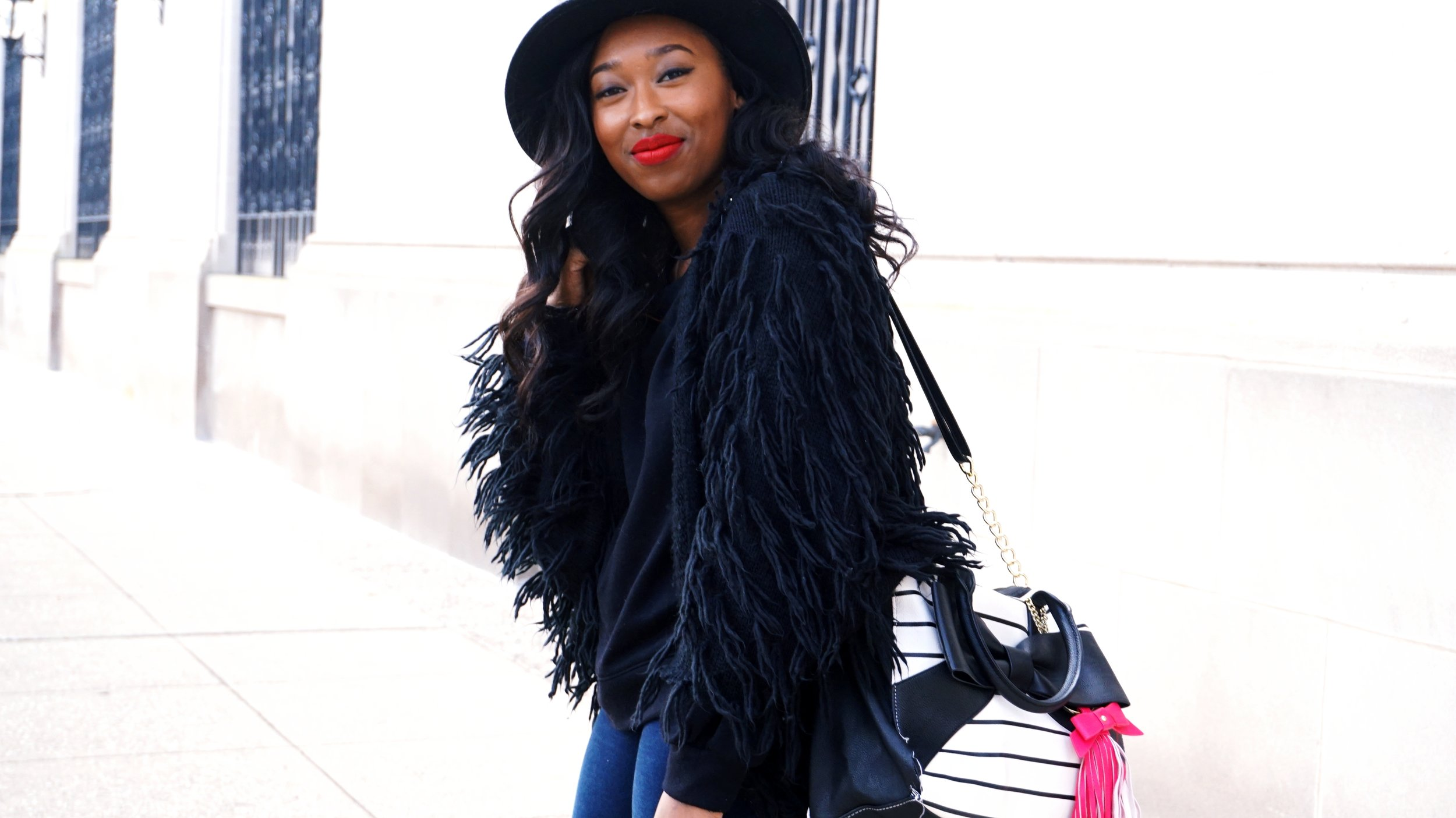 How To Style a Fringe Sweater