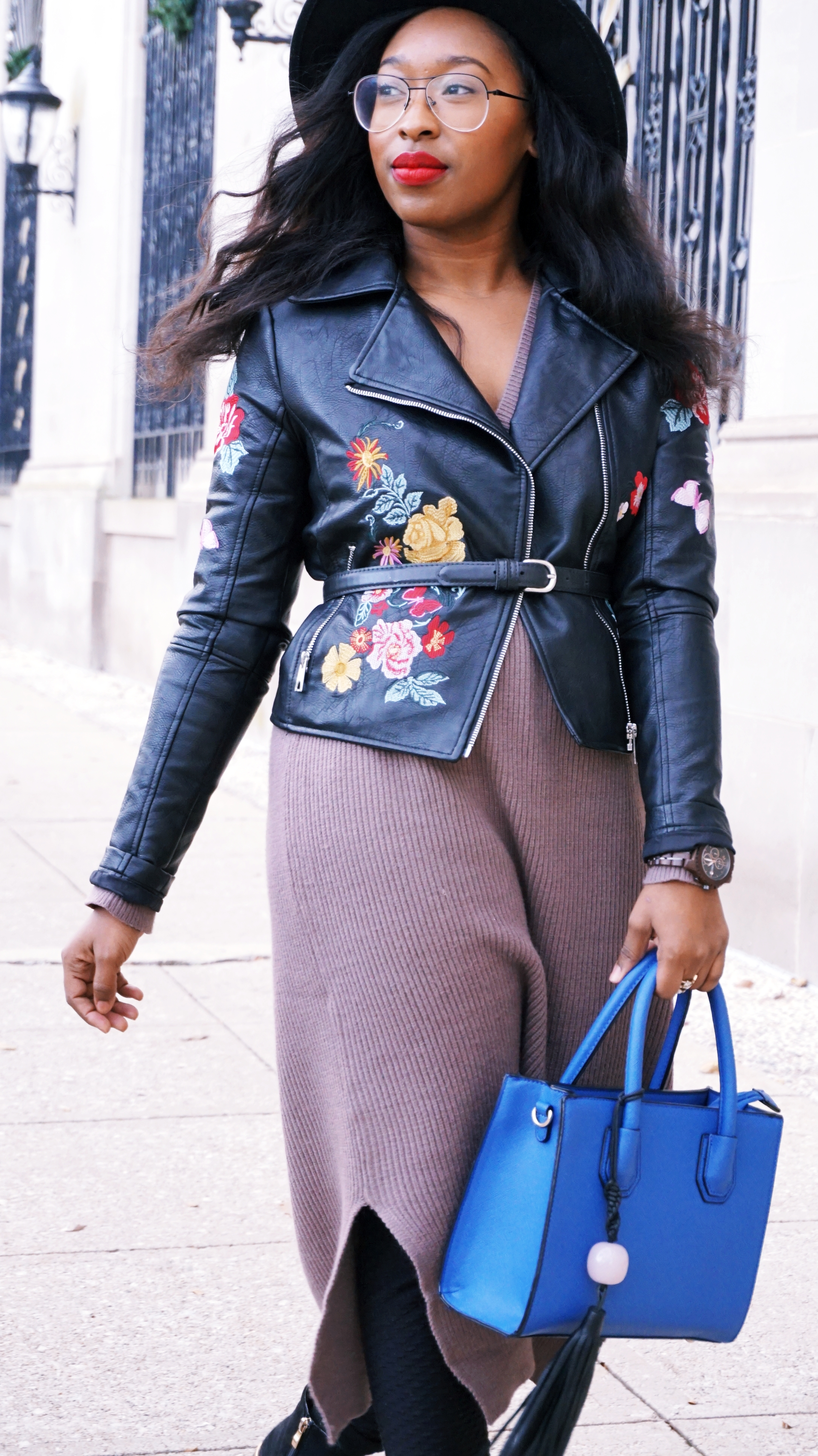 Belted Leather Jacket Outfit