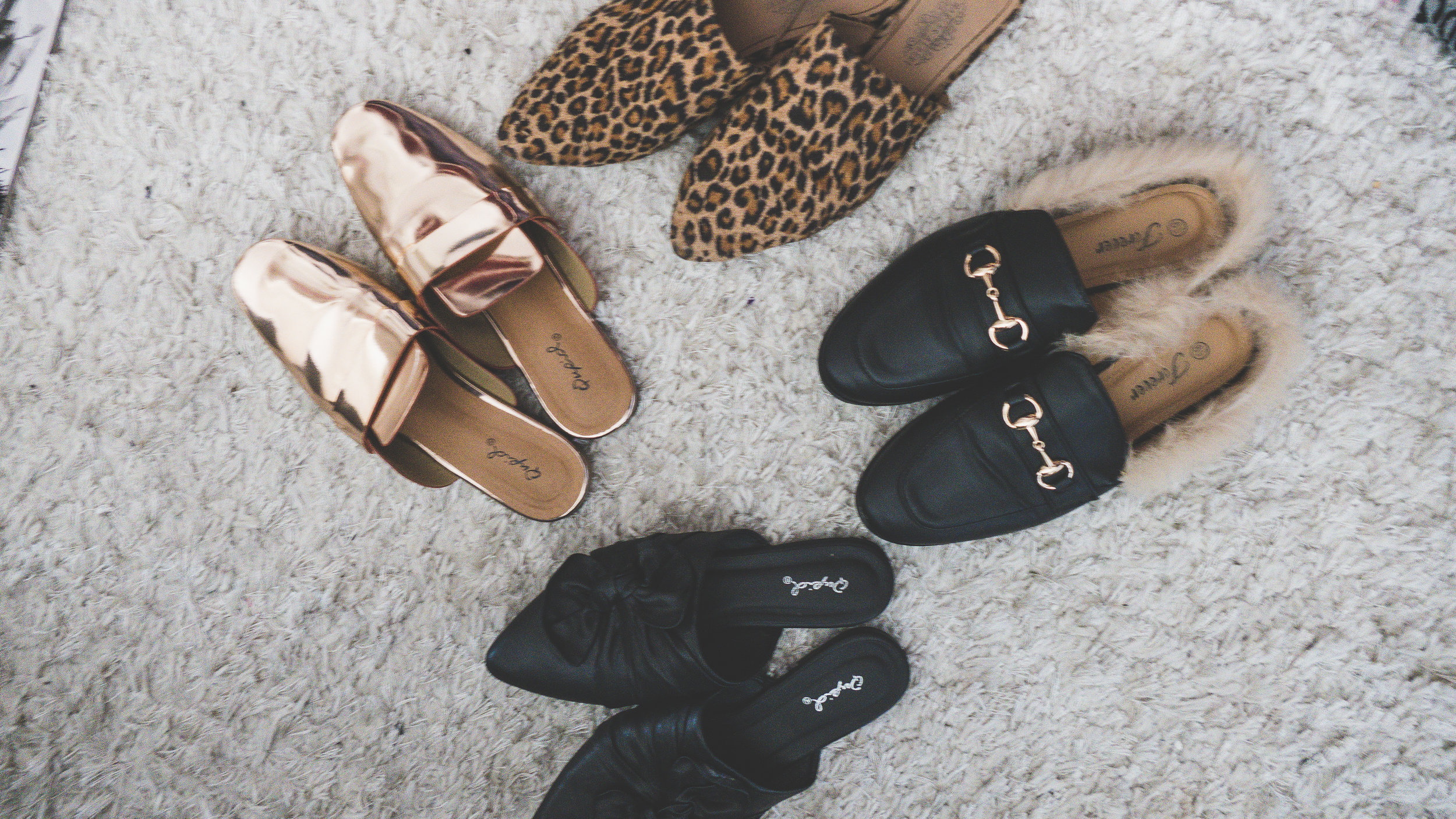 mules, loafers, gold mules, gold shoes