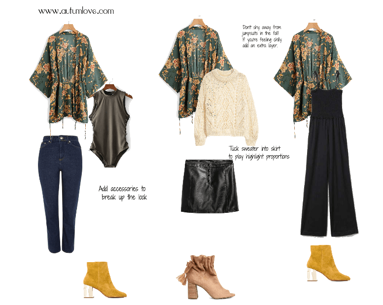 Fall Kimono Outfit ideas