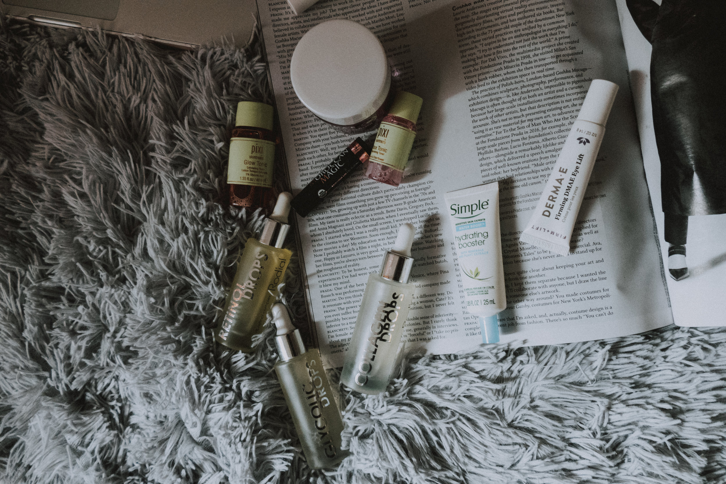 Skincare, rodial, derma e, simple, pixi beauty, moroccan magic