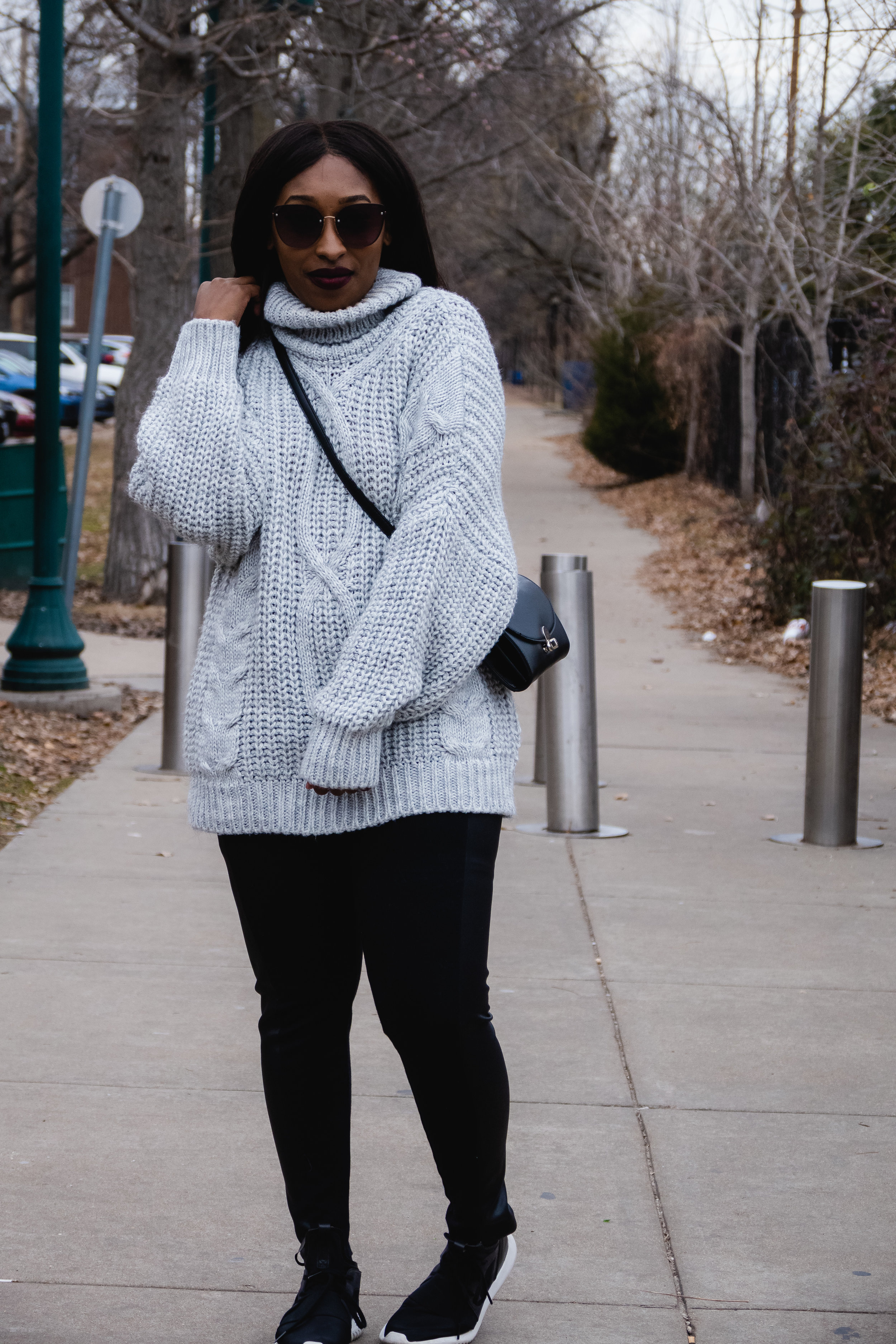 How to style a Cable knit jumper dress, 2019 fashion trends, femme luxe finery