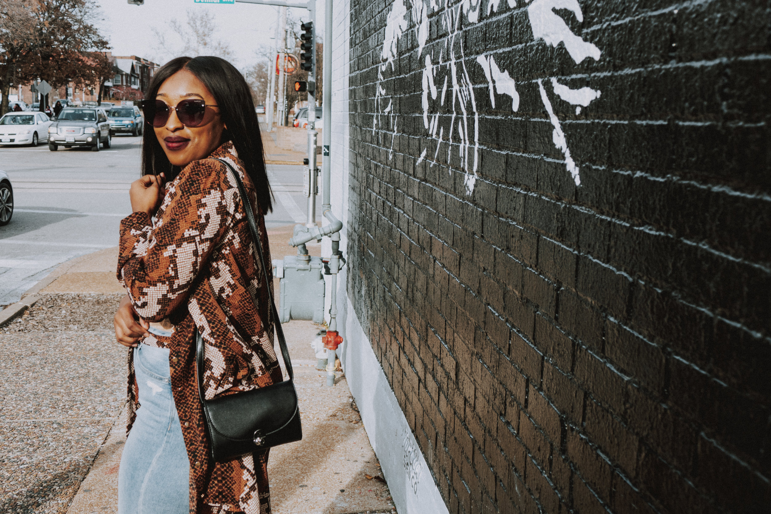 Snake Print trend, femmeluxefinery, silk shirt dress, shirt dress, 2019 fashion trends