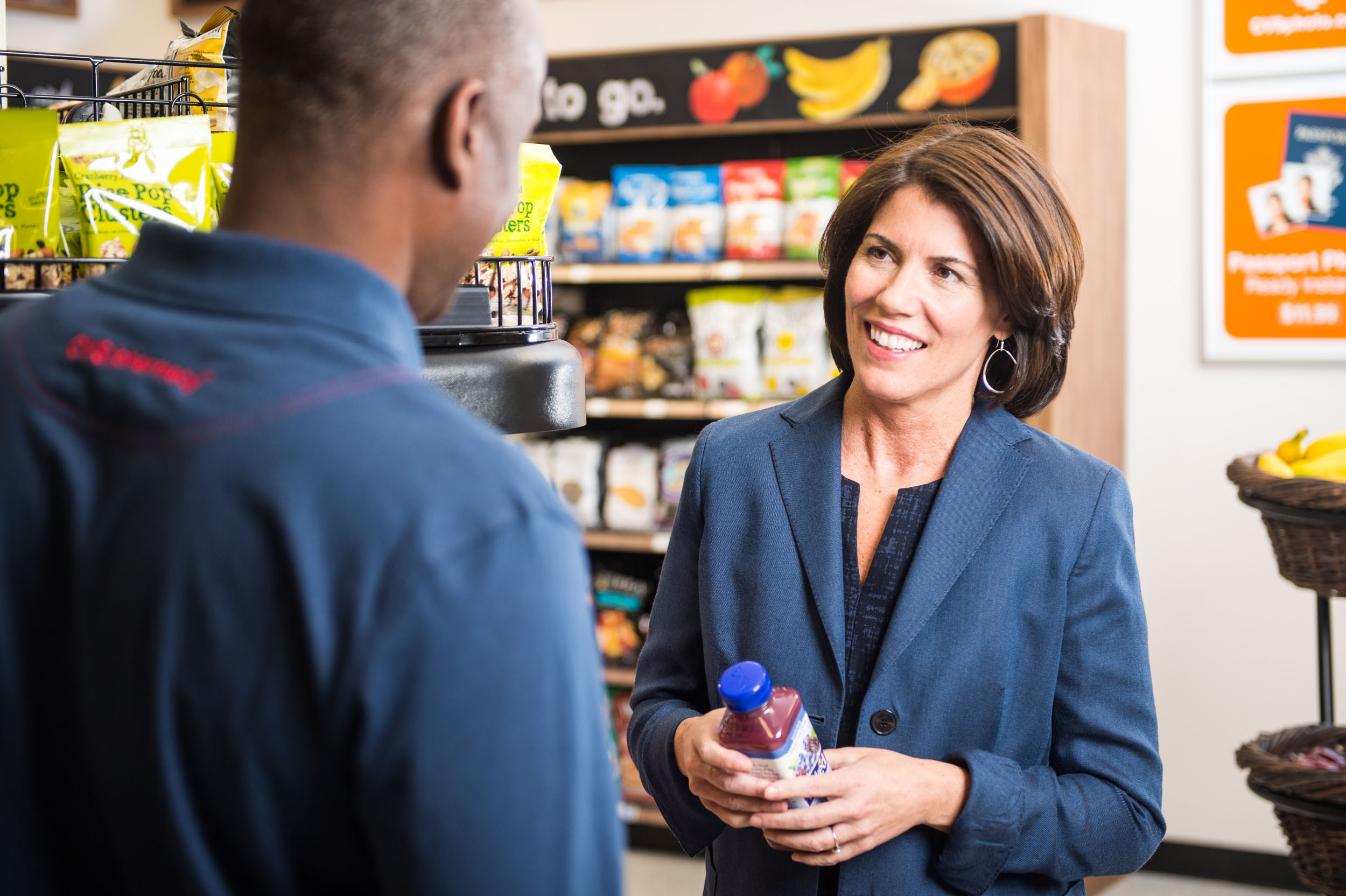 Maura Wayman Photography, Photography, Corporate Photography, stock, stock images, Massachusetts, Boston, Metro West, Wellesley, CVS, Store, workers, black man, grocery, woman, Helena Foulke, co-workers,