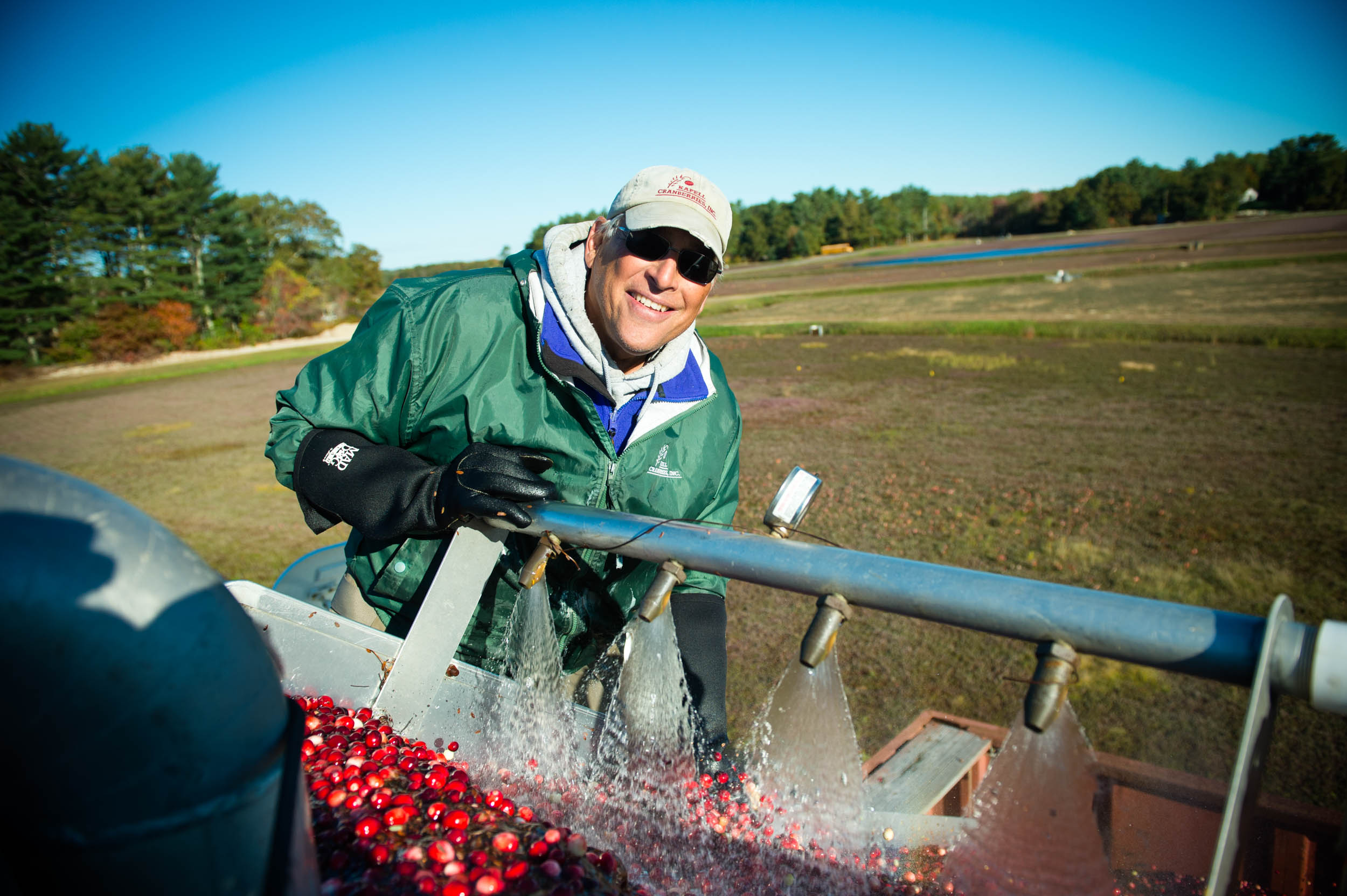 Maura Wayman Photography, Photography, Corporate Photography, stock, stock images, Massachusetts, Boston, Metro West, Wellesley, Cranberries, berries, berry, cranberry, red, red berries,  dried cranberries, dried fruit, farmer, harvest, field, machine, farming machine, water, Cape Cod,