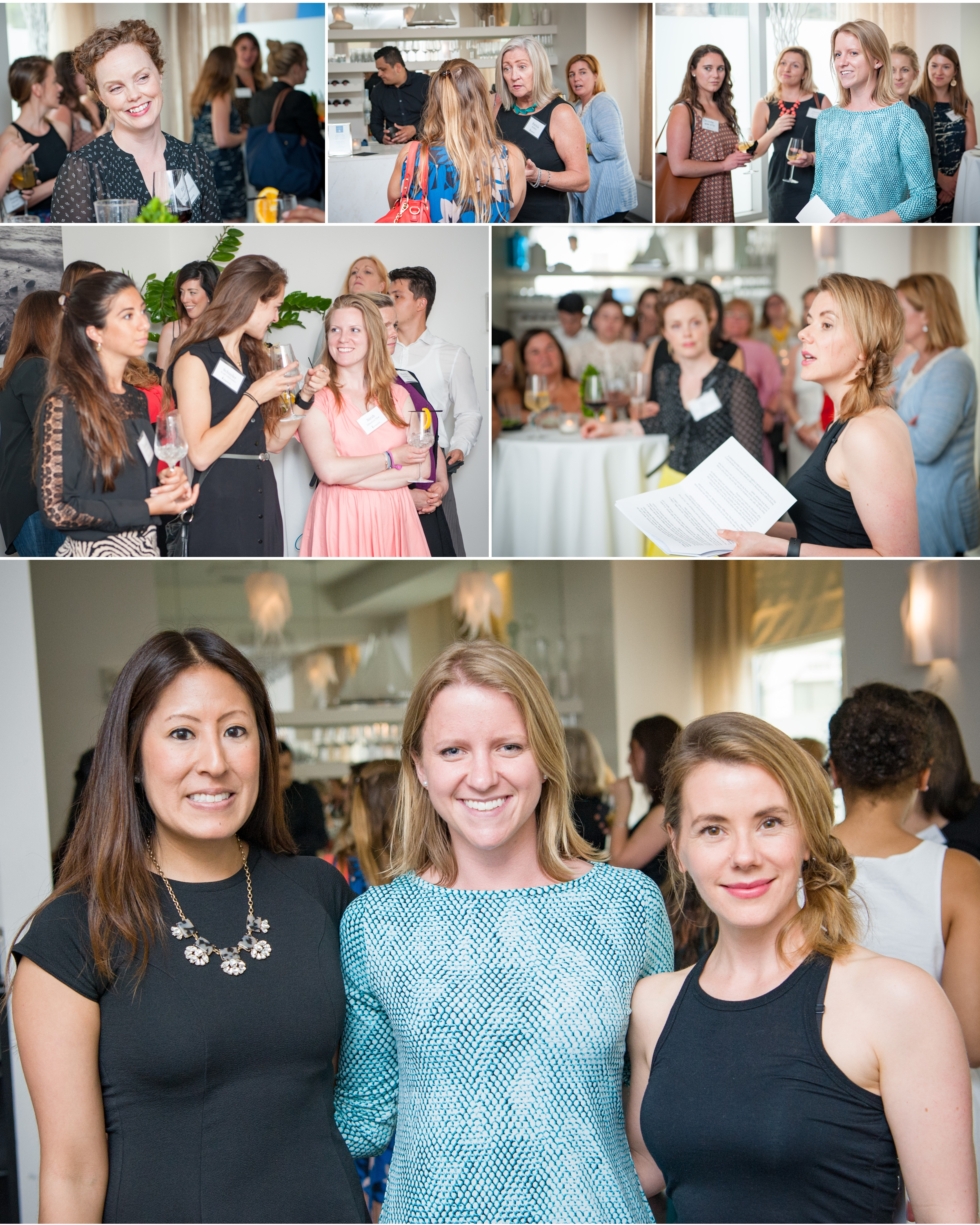Popavents  Summer Party at super cool venue Ostra.  Lisa Flores-  Ostra,  Caitlin Carey-Popavents, Jennifer Hanway-Holistic Nutritionist