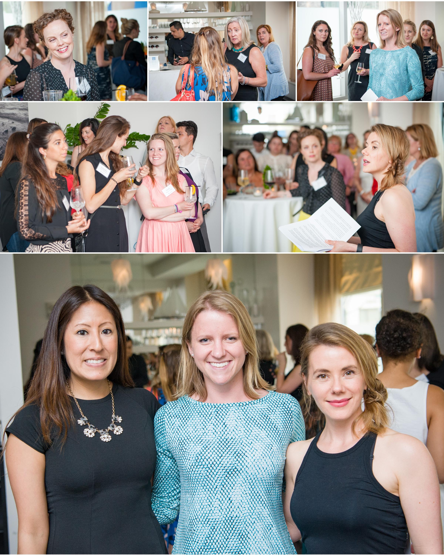 Popavents  Summer Party at super cool venue Ostra. Lisa Flores-  Ostra,  Caitlin Carey-Popavents, Jennifer Hanway-Holistic Nutritionist