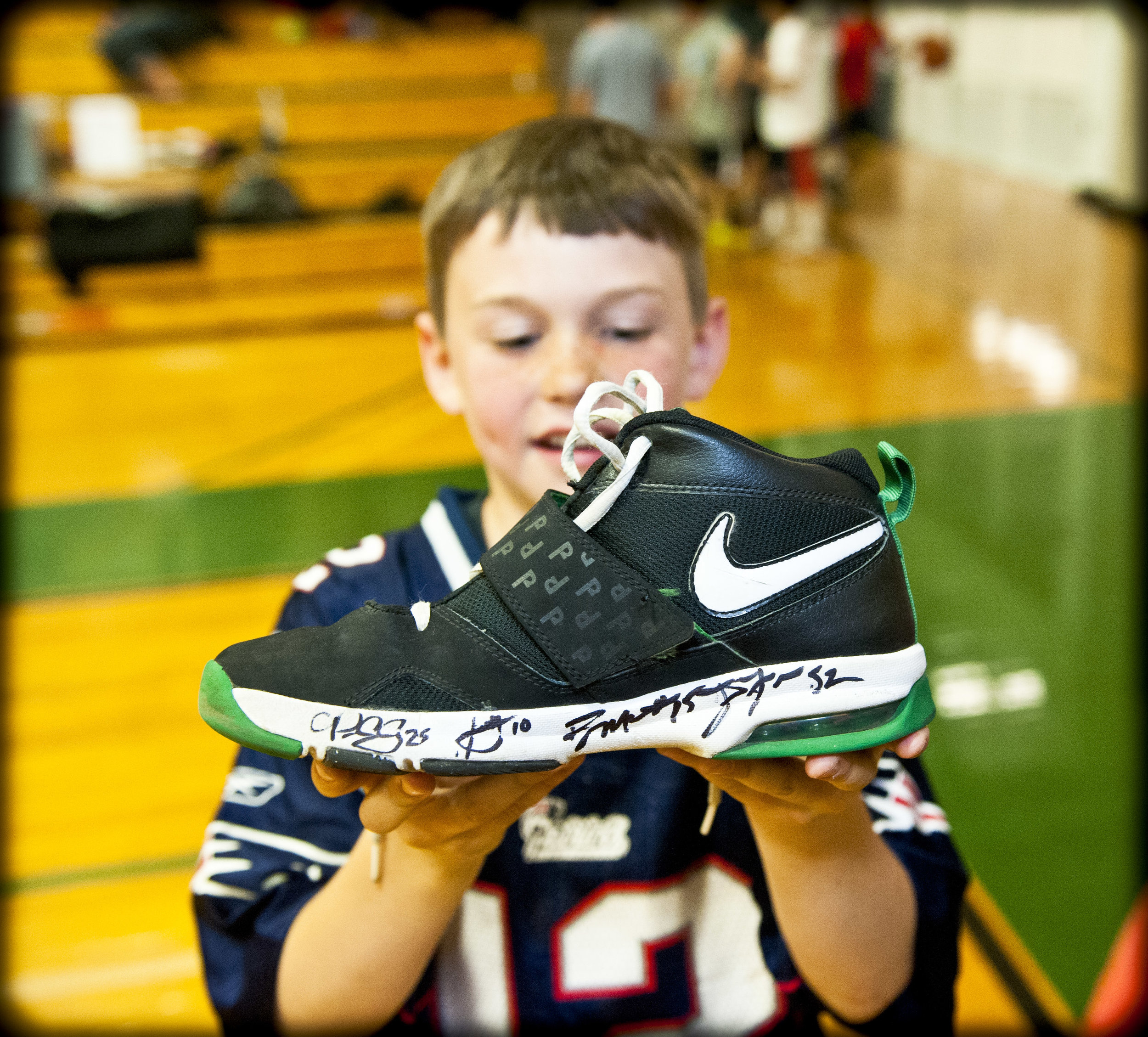 Gronk autographed a sneaker