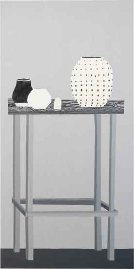 Lot 272, Phillips, November 12, 2013; Jonas Wood, Shio Still Life in Black and White, 2011.
