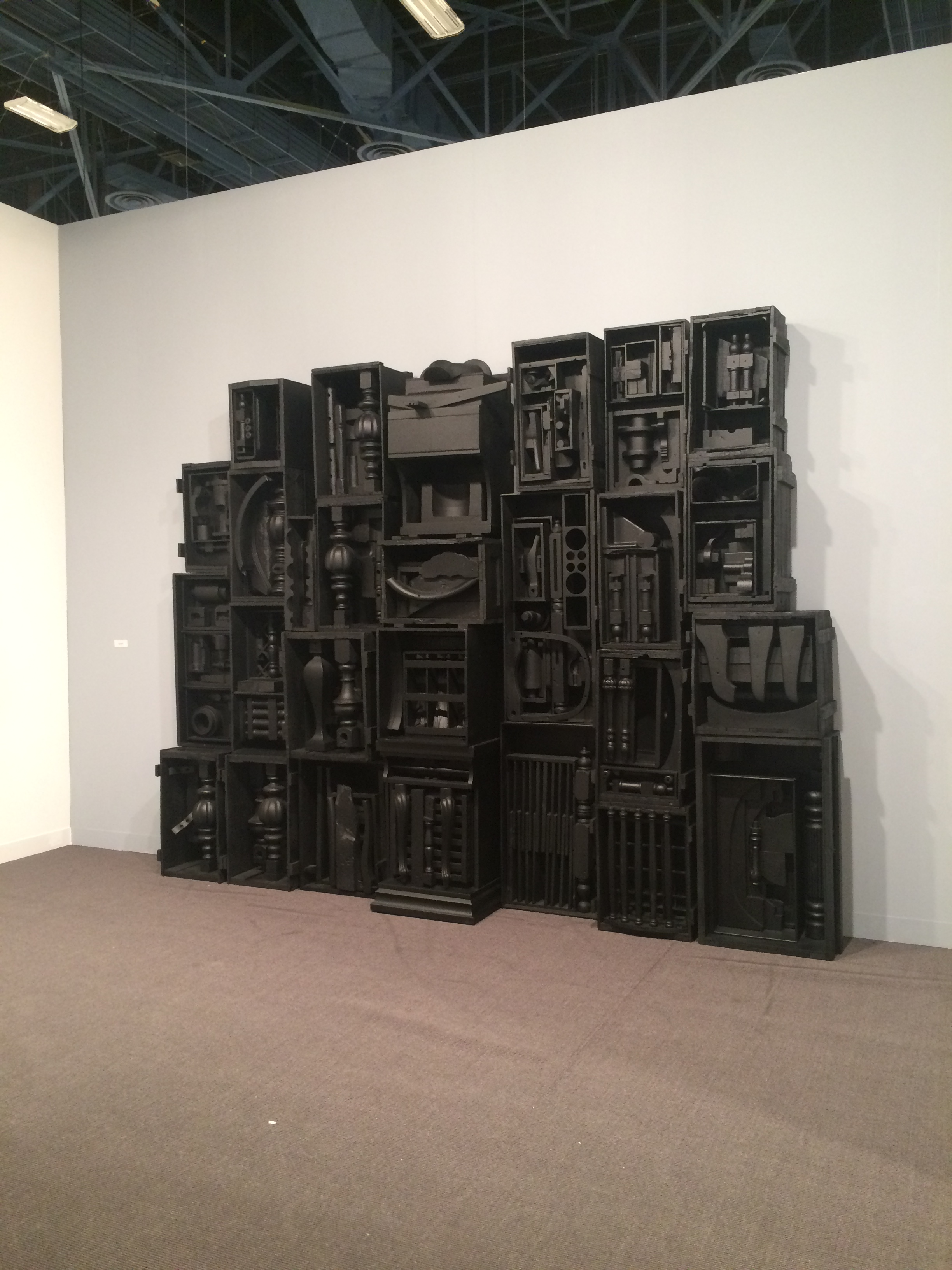 Room dedicated to Nevelson at Basel.