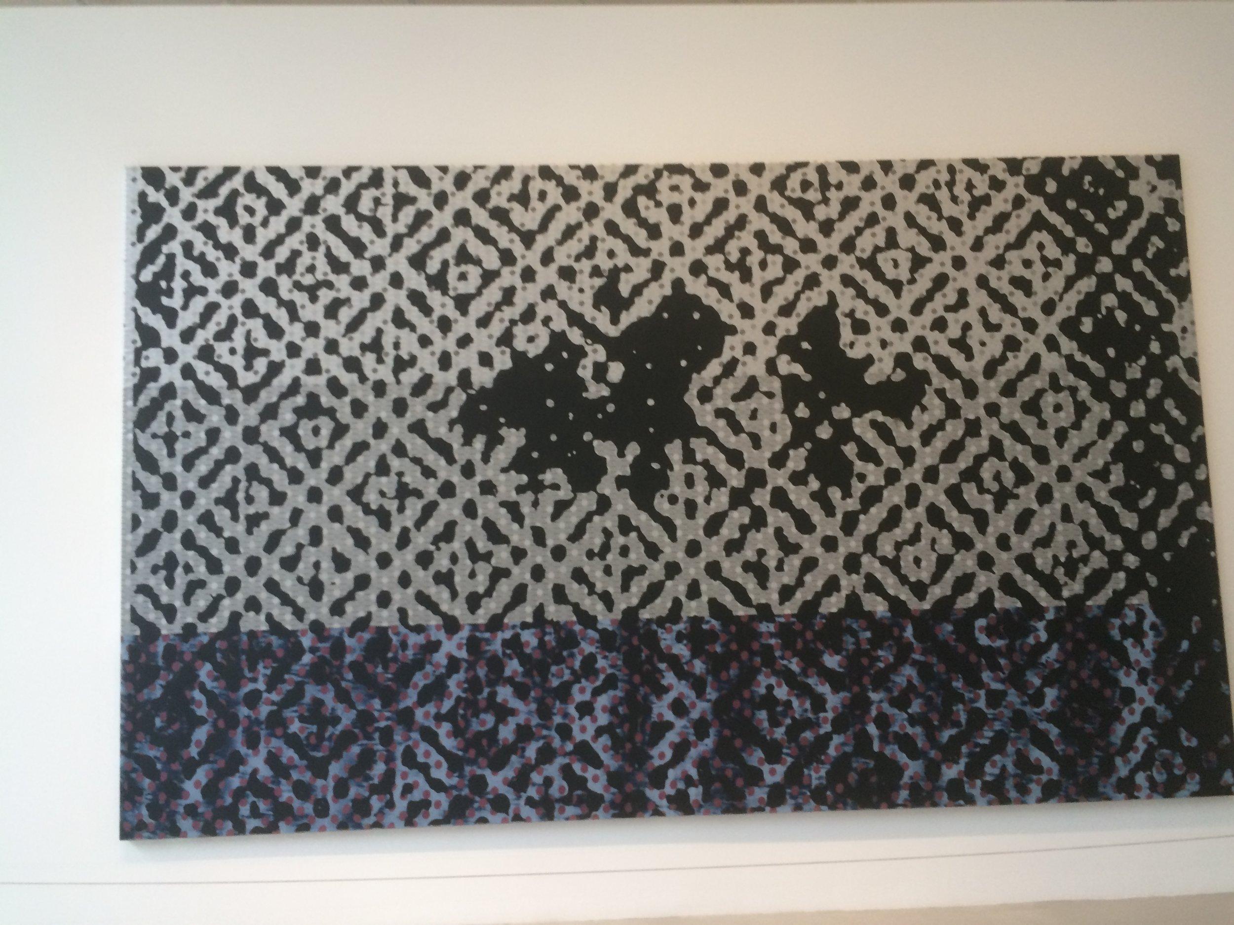 Polke work at De La Cruz Collection.