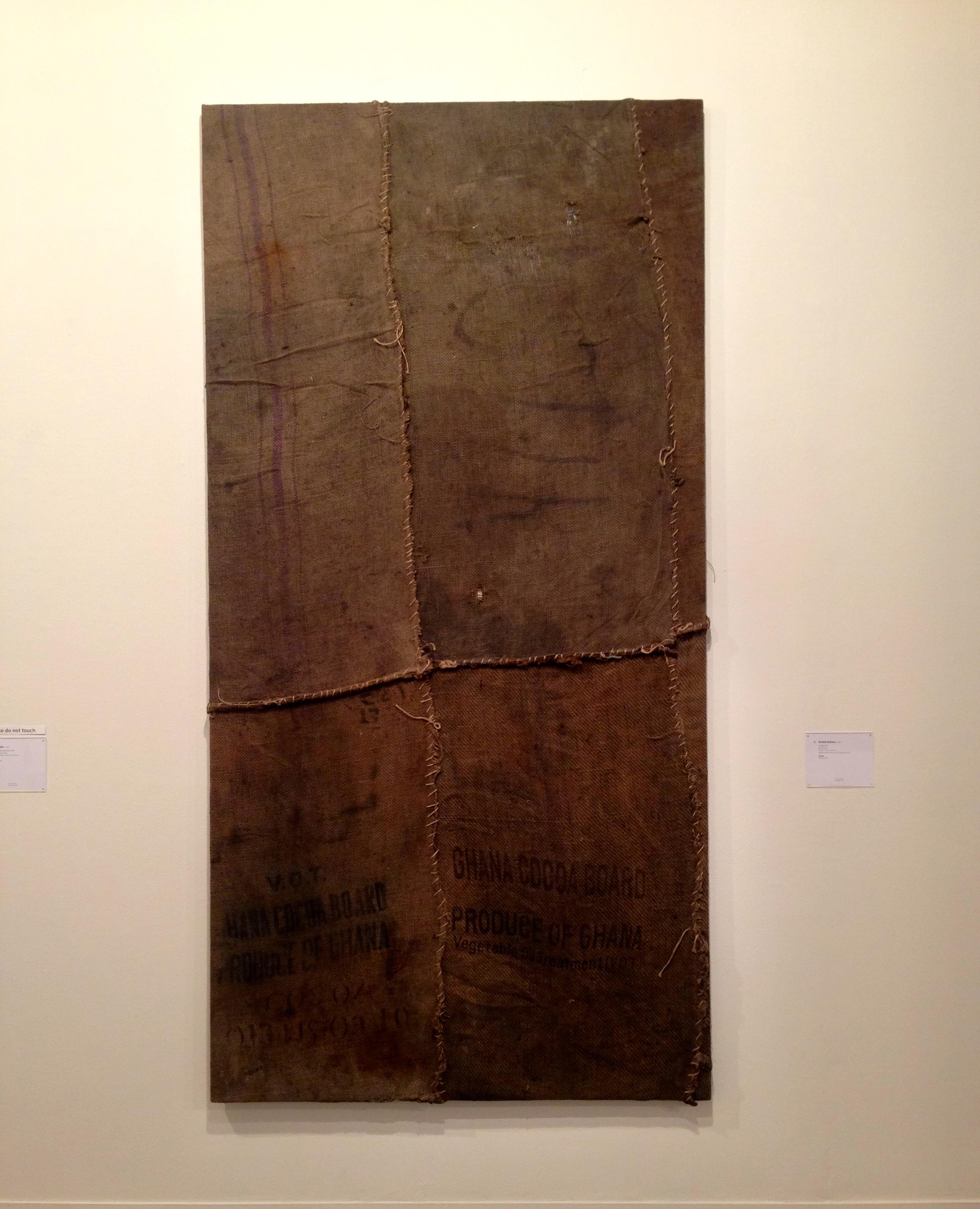 Phillips- New Now, Ibrahim Mahama, Untitled, 2014, Jute Coal Sacks