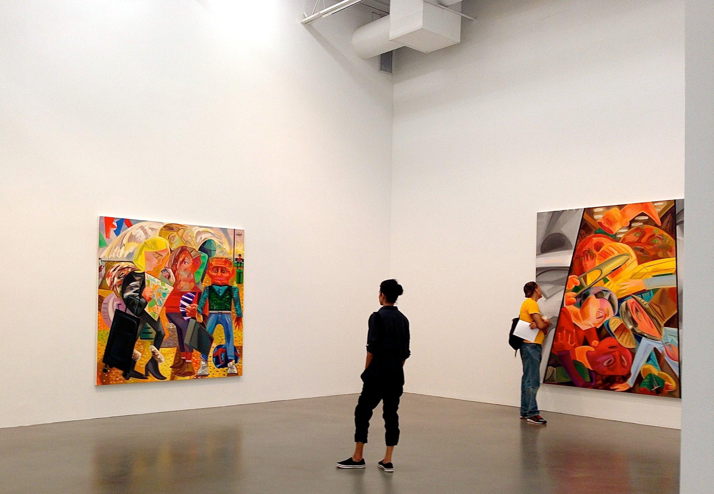 Petzel Gallery, Dana Shutz, Fight in an Elevator, 2015