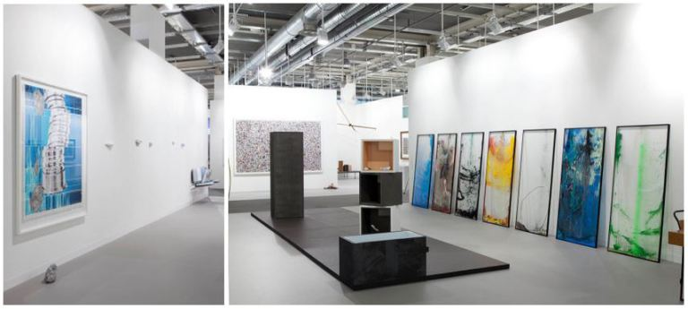 Installation View, The Approach Gallery: Alice Channer, Jack Lavendar, Magail Reus