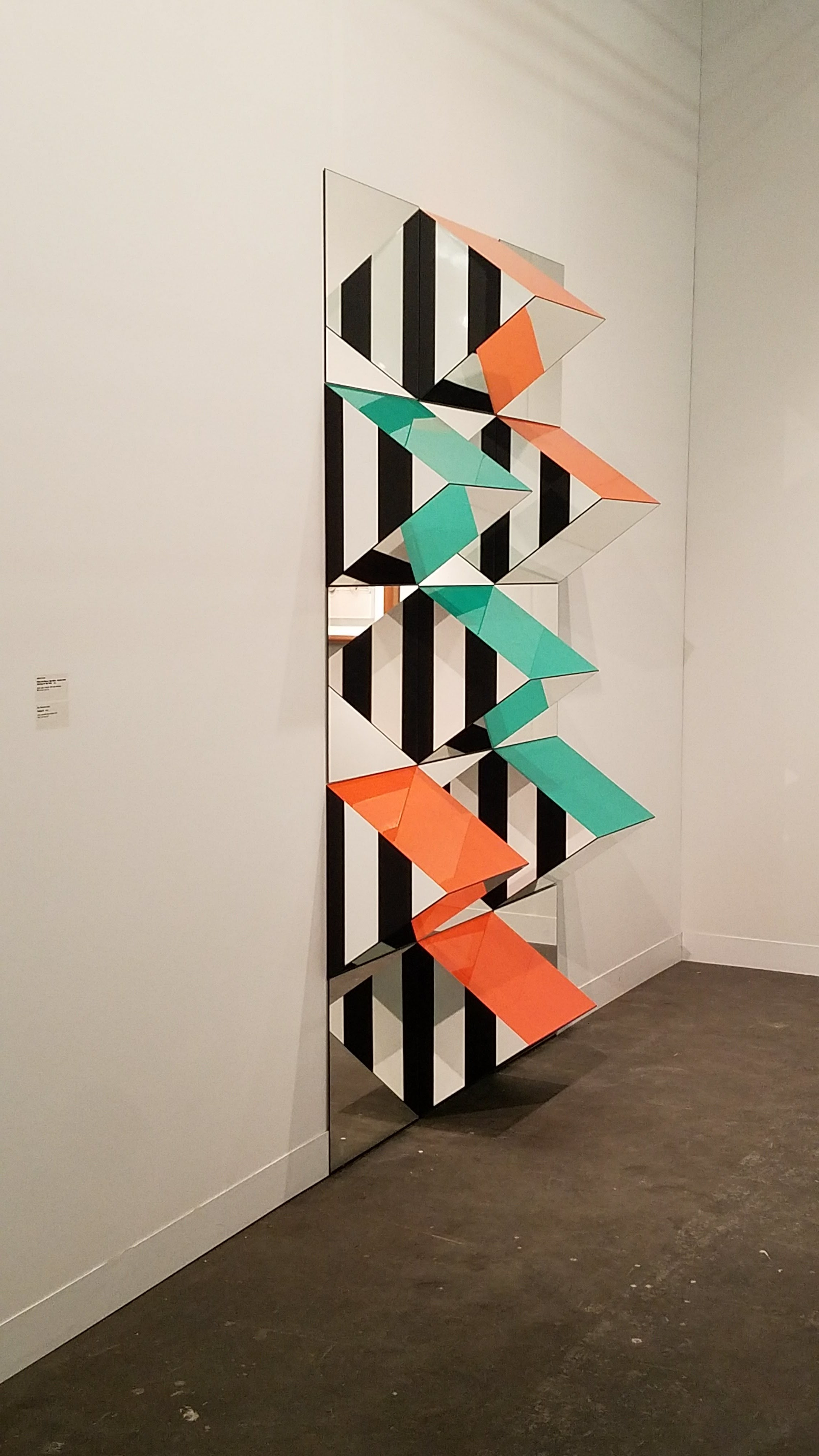 Daniel Buren, Prisms and Mirrors, high reliefs, situated work 2016/2017 for São Paulo, 2017, Courtesy of Galeria Nara Roesler