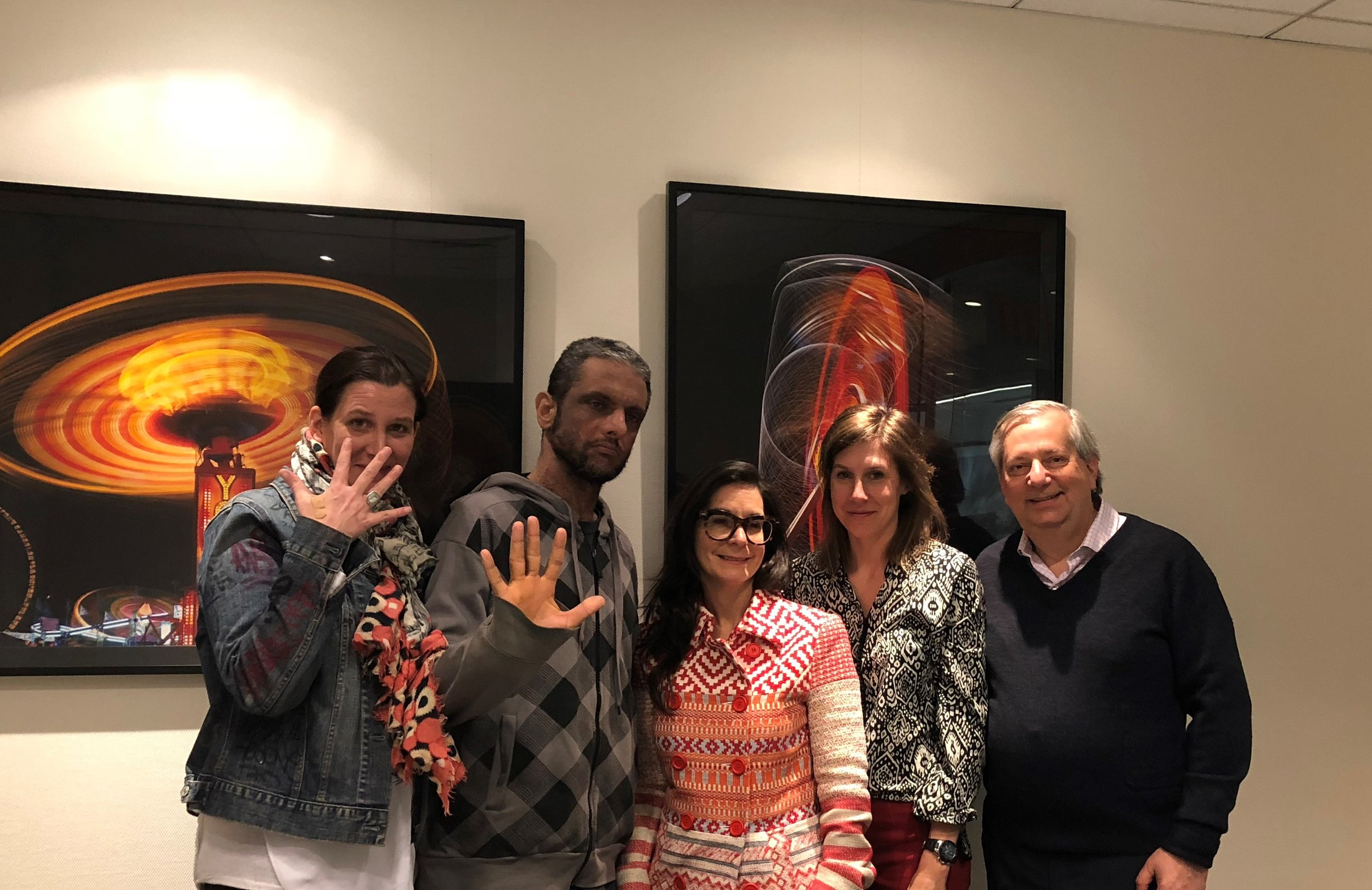 From left to right: Marie Cecile Flageul – Co-Founder/5Pointz Creates & Curator/MoSA, Jonathan Cohen (Meres One) – Founder/5Pointz & 5Pointz Creates, Renée Vara – Director/VARA ART, Katie Wilson-Milne Esq. - Partner/Schindler Cohen & Hochman LLP, & Steven Schindler Esq. - Partner/Schindler Cohen & Hochman LLP