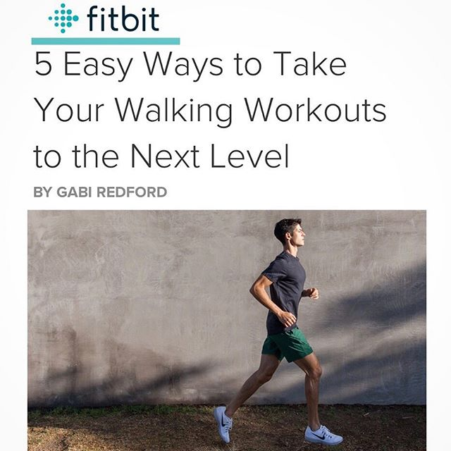 Friday Fit Tip! 👨🏻‍🏫💪🏻 Check out the Fitbit Blog where I share my tips on how to STEP IT UP and take your walking workouts to the NEXT LEVEL! 👟💫 *link to @fitbit article in bio*  #friday #fittip #findyourfit #fitbitlocal #fitspo