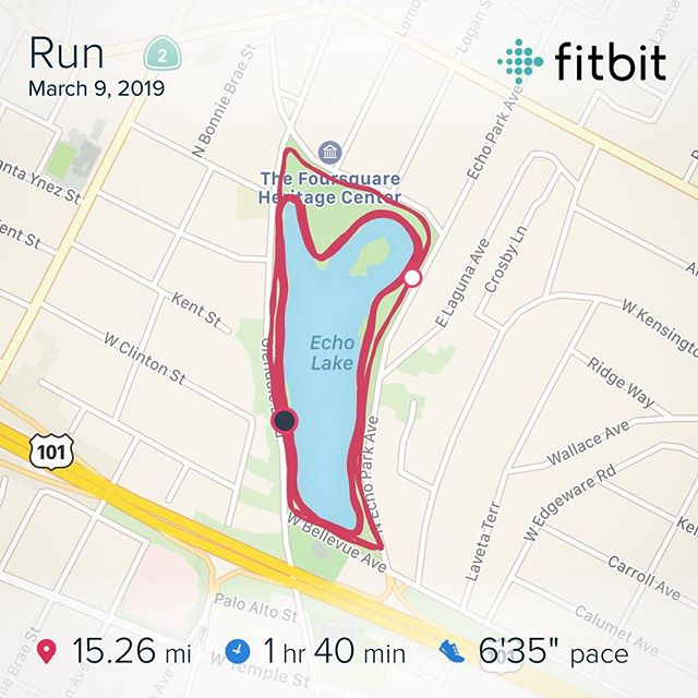 "The big workout of the week 💥💪🏻 2 mile Warm Up 2 x 5 miles at MP with 5 min jog btwn sets 2 mile Warm Down  2.0 mi: 7'07"" 5.0 mi: 6'07"" (felt great, typical MP is 6'20"") 0.7 mi: 7'22"" 5.4 mi: 6'10"" (ran it long to clock a 13.1 - 1:23:10ish) 2.3 mi: 7'59""  DONE! Towards the end of the week I was all in my head and doubting where my training is in its final stages. Legs felt heavy, and had I some lingering pain and floppiness in my ankle from rolling it on Monday. Nailing this run was a HUGE confidence booster. Five more weeks until Boston! I'm ready. Time to start scaling back the mileage and wait for a healthy taper. Happy Sunday everyone! Get your run on ☺️🏃🏻‍♂️💯 . #weekend #miles #longrun #marathontraining #boston2019"