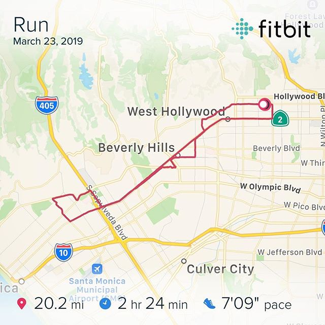 "The Longest Long Run 🏃🏻‍♂️✔️ Wrapped the bulk of training with this 20 Mile Marathon Sim. Here I dropped into the middle section of the @lamarathon course (miles 13-23) to simulate the rolling hills and negative gain of the @bostonmarathon. This one felt good. Officially 3 weeks out! Looking forward to the taper 😎 - 9 Miles Easy (7'25"") 9 Miles @ MP (6'19"") 2 Cool Down (8'15"") - #3weeks2go #BostonMarathon #Training #Ready"