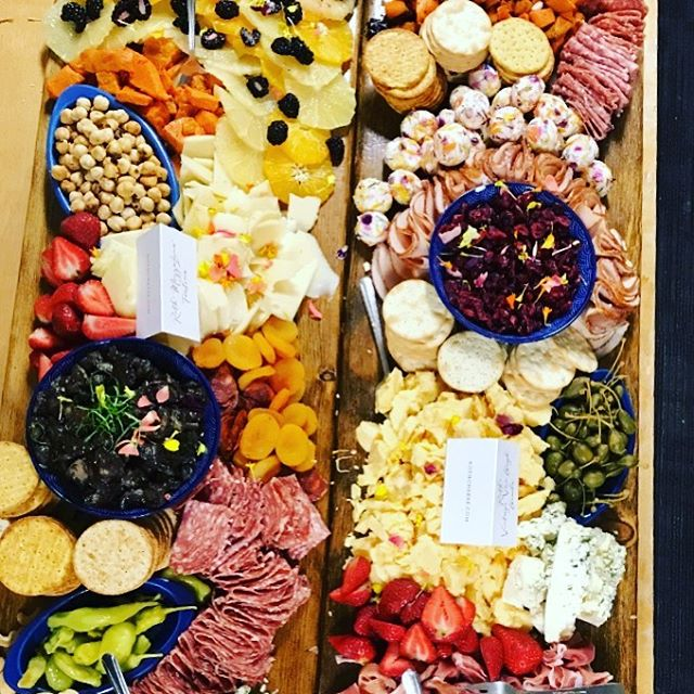 Cheese and charcuterie. We did a fab wedding DTLA wedding overlooking the city. #cheeseboard #charcuterieboard #laweddingcaterer #spottedhencatering