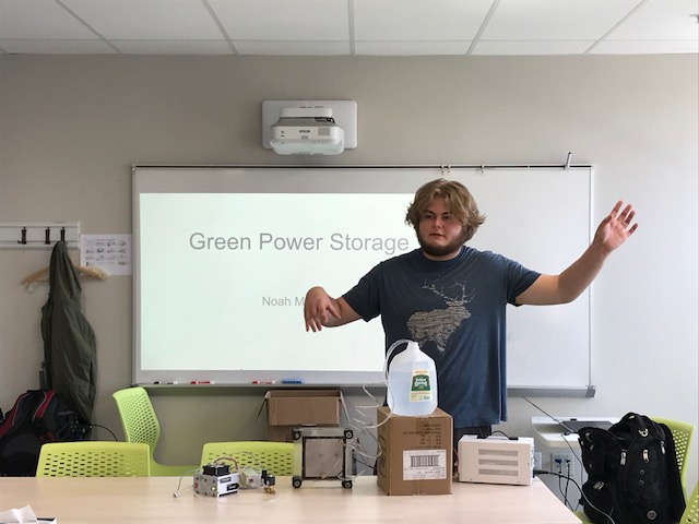Noah, class of 2018, presents his year-long Summit Capstone project on hydrogen power.
