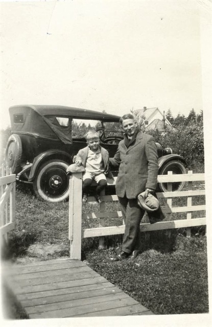 Leo at age 4, with his father Leo senior, Fort Shaw, Montana.