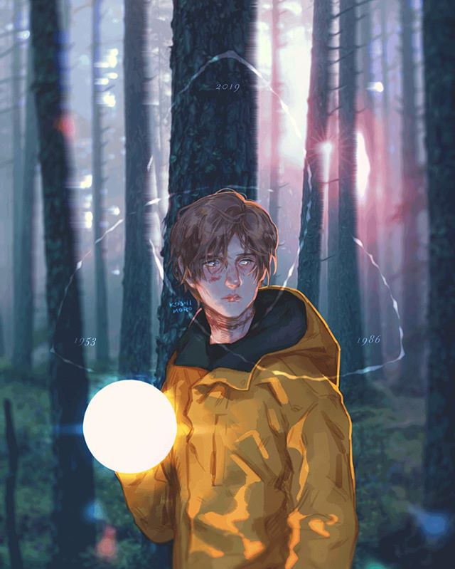 「 Into the light, Into the unknown. 」 . . . @darknetflix @baranboodar @louishofmann  #darknetflix #jonaskahnwald #fanart #illustration #netflix #darkseason2 #darkseries