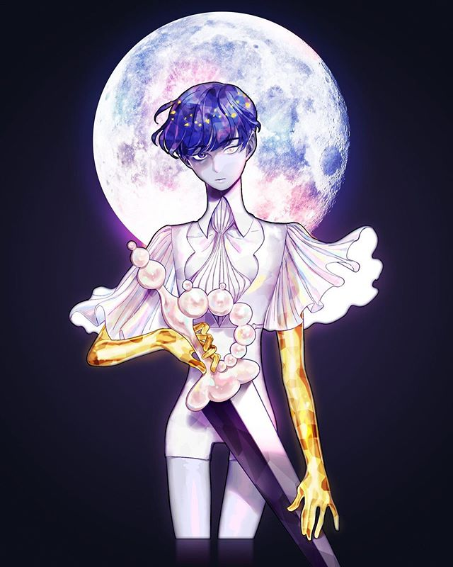 blue & gold  #housekinokuni #landofthelustrous #phosphophyllite #phos #moonphos #fanart #artistsoninstagram