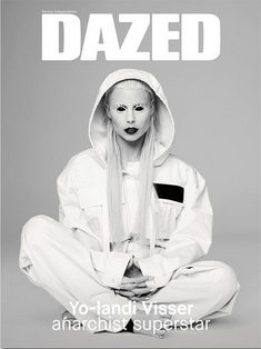 "Yolandi Visser/Die Antwoord - They delivered the record, Ten$ion, to Interscope and waited to hear back. ""It was like fucking school,"" says Visser. ""They said, 'Well, it's good, but it needs more rave.' We were like, 'How much more rave do you want?'"" The label told them they needed to write three more songs, including a collaboration with a commercial artist. ""We were like, 'Fuck you! Why should we collaborate?' We should only do that if we really dig someone, like when you're hanging tough and it just works. There was this weird pressure. So we called our lawyer and said, 'Can you make Interscope go away?'""Their lawyer wasn't sure how easy it would be. ""It was like a fucking bible, the contract we had signed with them."" Luckily for the group, Interscope let Die Antwoord go without much of a fight. ""I think they were scared of Ninja, to be honest. They had wired us $1 million, so we wired it back. We didn't want the money. It was more important to us to make something we believed in. Everyone was saying, 'They are a fucking joke band, they are fake.' I was like, 'No, we really wanna get better and prove that we didn't just get lucky like Vanilla Ice.' We wanted to prove that we are going to make music until we die.""Cover interview in DAZED, read it here."