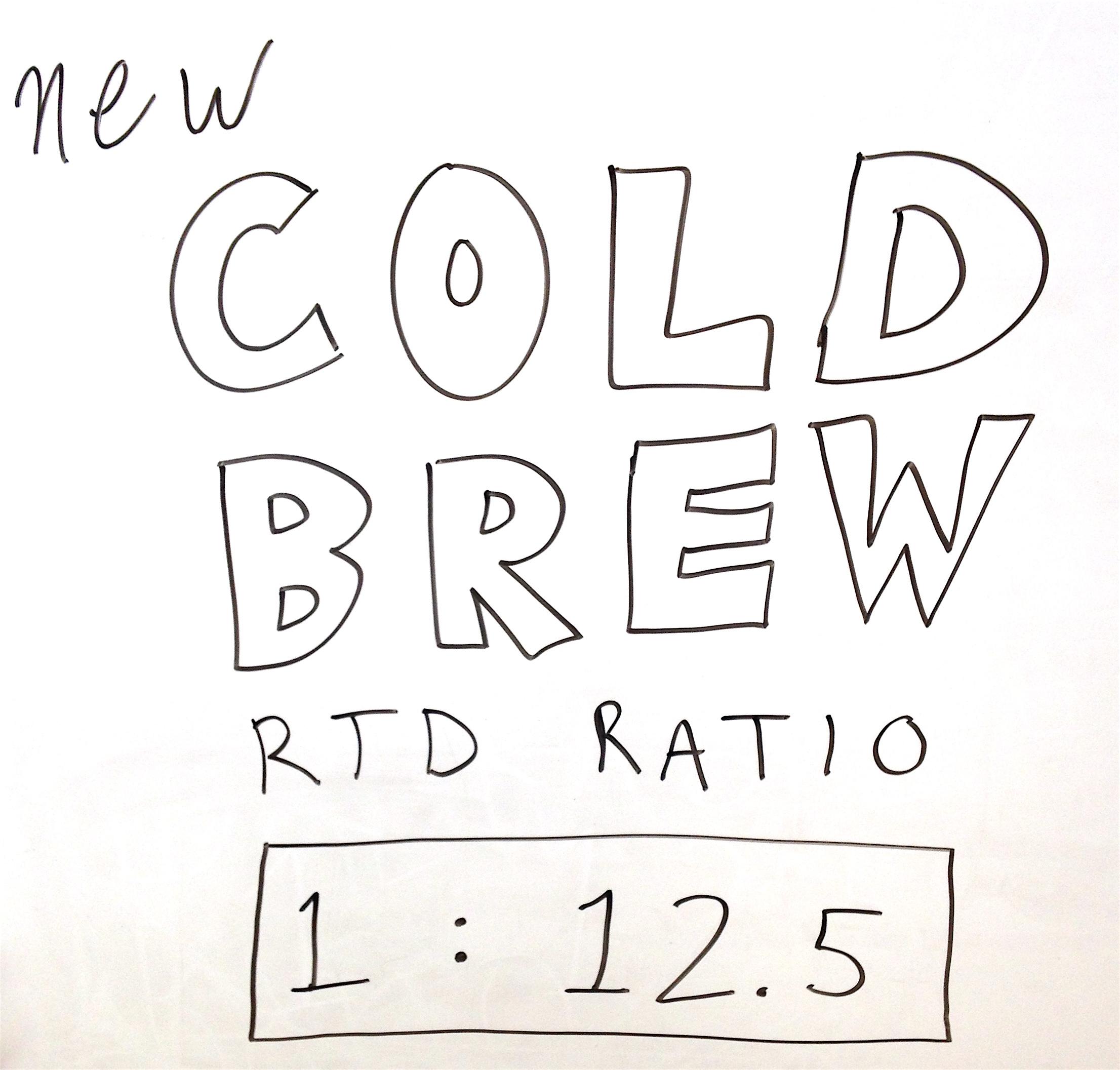 cold brew coffee ratio