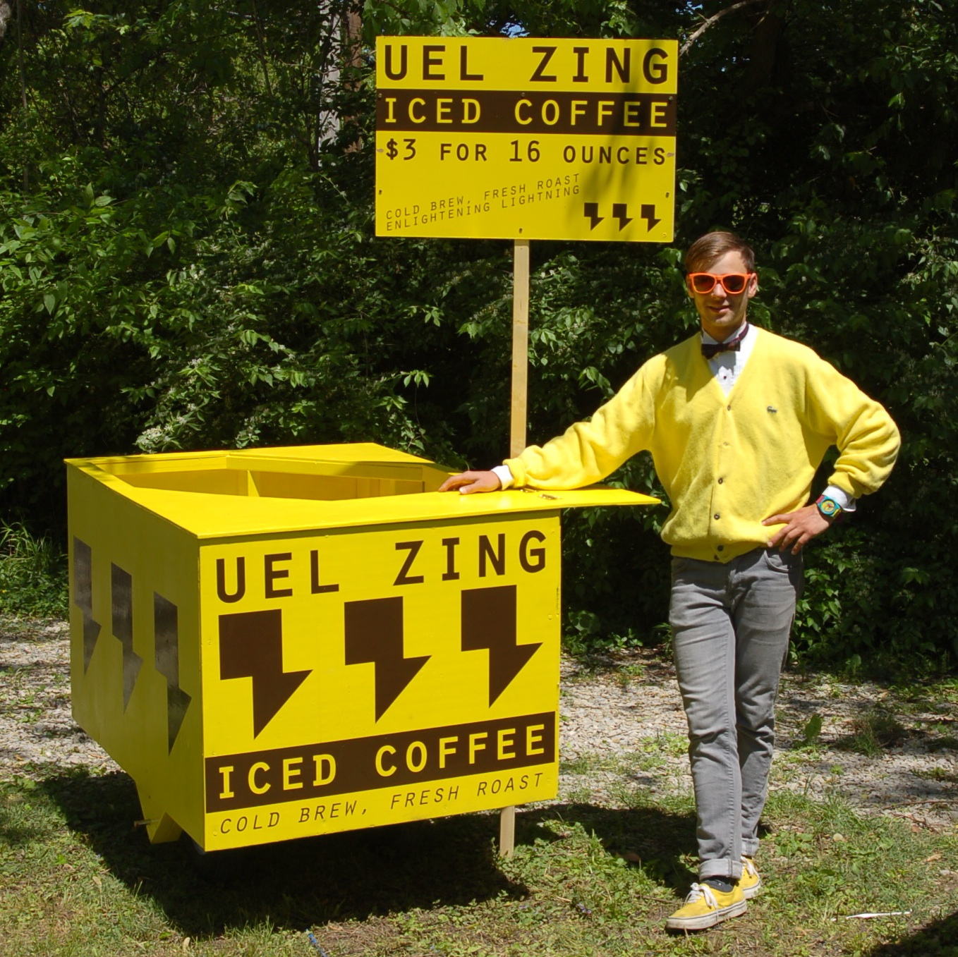 Uel Zing, Day One - Here I am on the very first day looking like a dork with a freshly built cart.