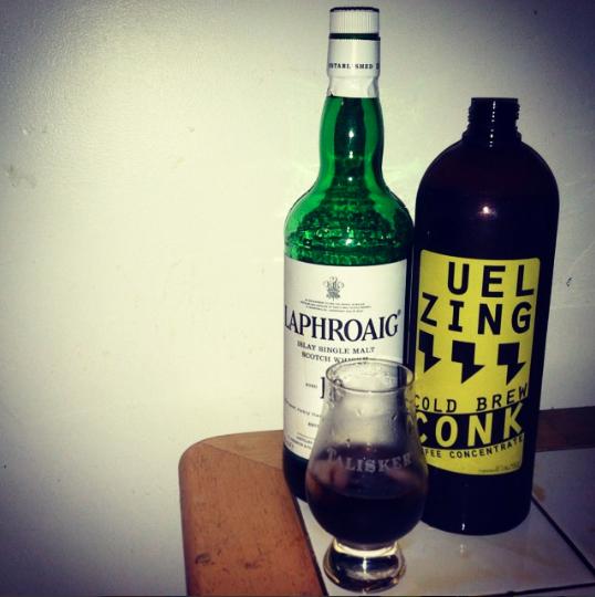 Scotch Rocket - 1 part CONK1 part Scotch Whisky1 big ice cube