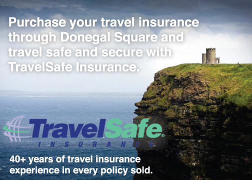 Interested in trip insurance? Indicate interest on the registration form or contact Neville Gardner at INFO@donegal.com