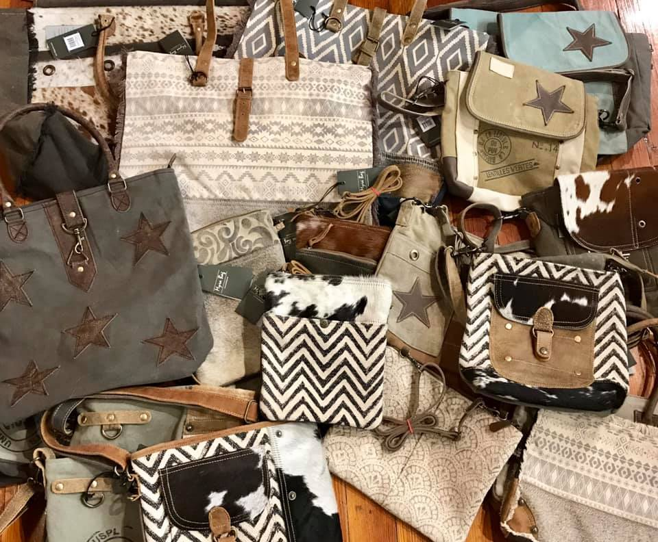 Now Introducing Myra Bags! - We are proud to bring you Myra bags! Our wide selection ranges from weekender totes to mini crossover purses. These bold and vintage bags are nature friendly and crafted from recycled materials, including military tents. We know you'll love them as much as we do!