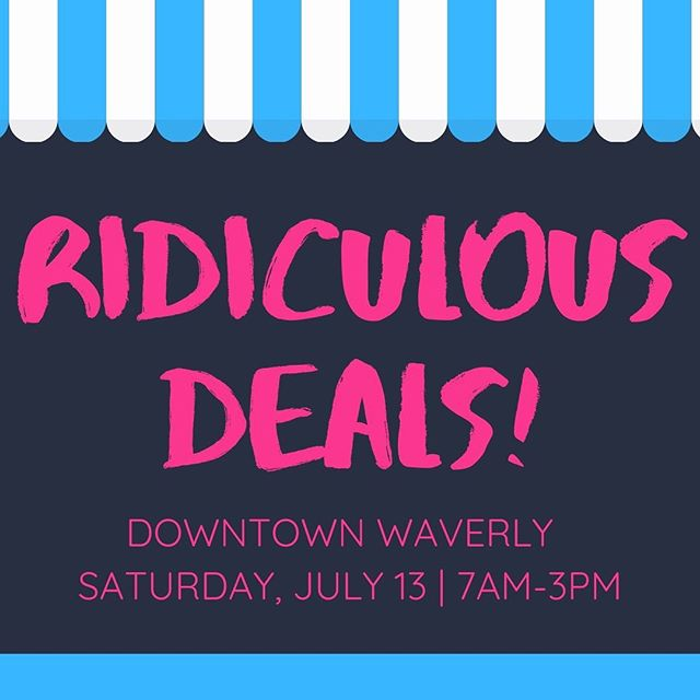 Waverly Ridiculous Days calls for ridiculous deals!! Shop Love & Lace for 50% off select clothing, $5 clothing rack, and up to 90% off other items.