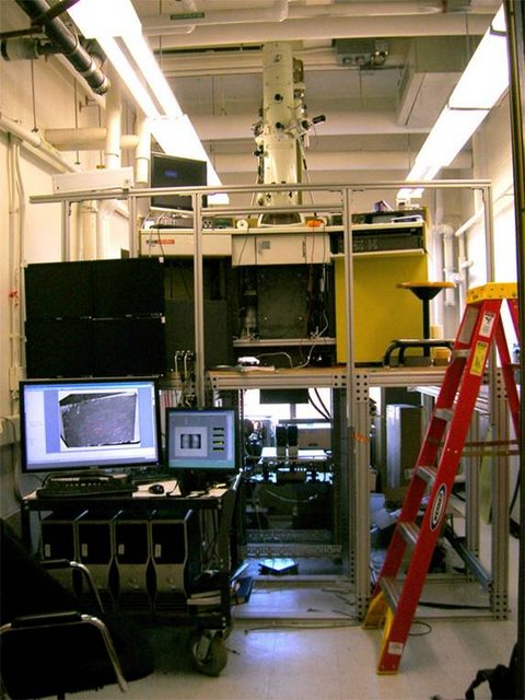 Reid Lab: T.E.M.C.A., may be the worlds fastest electron microscope, capable of continuously generating images at rates as high as 15 Mpixels/s. Many times faster than commercially available systems, it was fabricated for a fraction of the price. The Neurotechnology facility played a role in nearly every stage of this project.