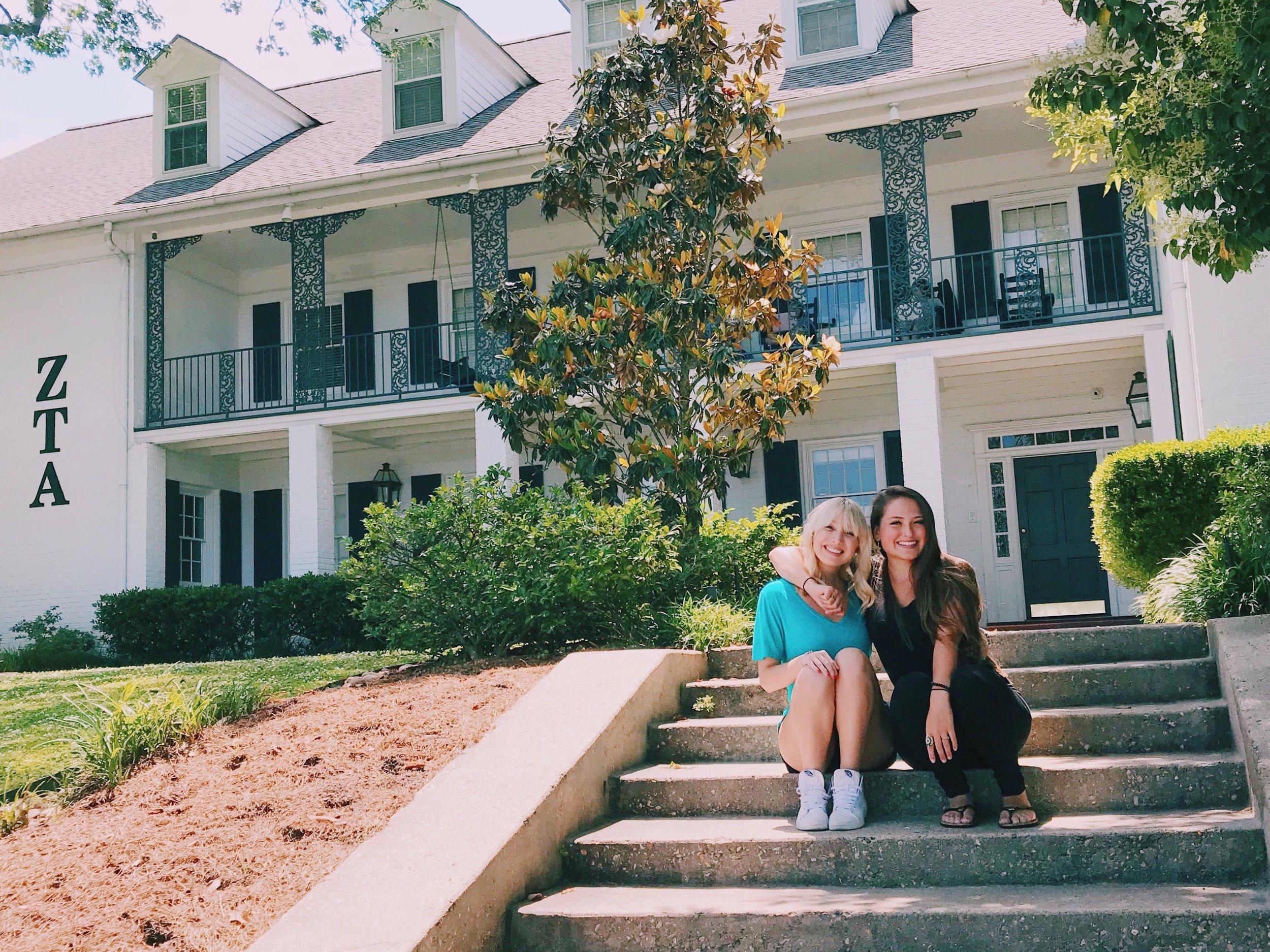Roommates Gabrielle Nolan and Sara Pauley