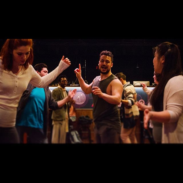 @hypatiamusical rehearsals in full effect! Come out to @caveatnyc for a Alexandrian Bacchanalia March 29-31! I can't tell you how excited I am to share this piece with the world! 📷: @uninterestingbrian #directorchoreographer