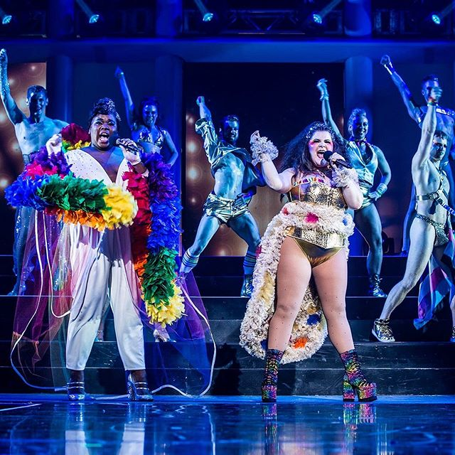 "Broadway Bares 29: Take Off ""When Love Takes Over"" w/ @thealexnewell and @ryannreds  Associate Choreo: @melaniejcomeau  Costumes: @nicholas_christoph  Assistant designer: @johnsbri89  Makeup: Tiffany Chang Projections: @jasonleecourson and @ryanbelock 📸: @evzmm  #broadwaybares #pride #whenlovetakesover"