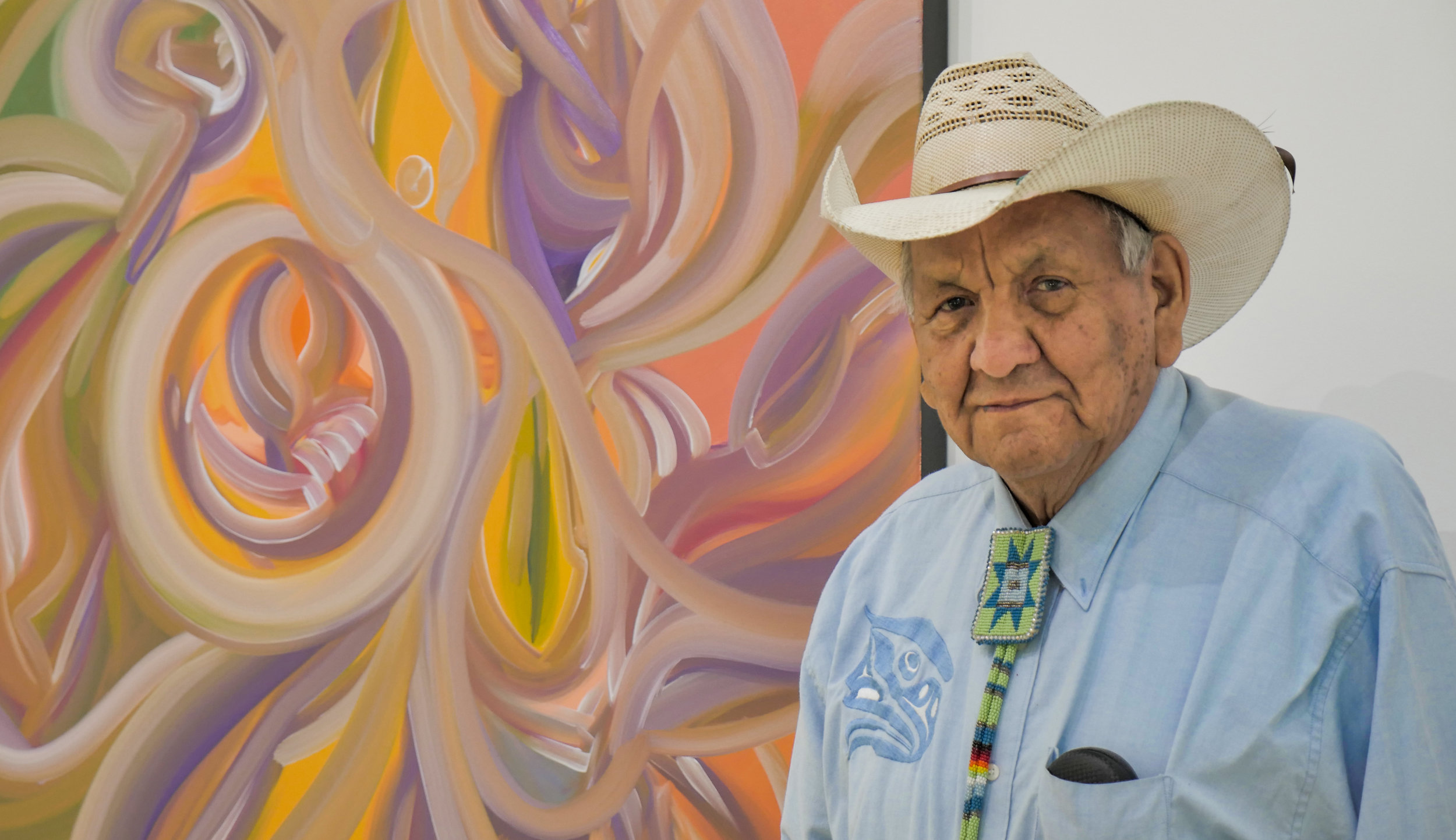 Alex Janvier in his Gallery