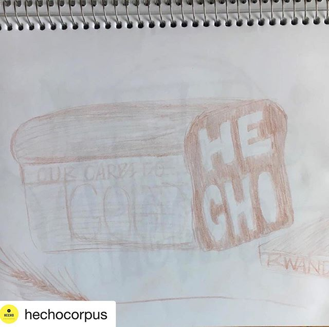 If you haven't listened to the @hechocorpus podcast yet, you're missing out on hearing from some of Corpus' creatives! I was honored to sit with Rob and share our story...go take a listen! • Repost @hechocorpus ・・・ S1EP06 is now live with Hollie Schaub of @fedbybread Give it a listen on anchor.fm or your favorite podcast app! Hollie's #HECHOSketch captures the essence of Fed By Bread!